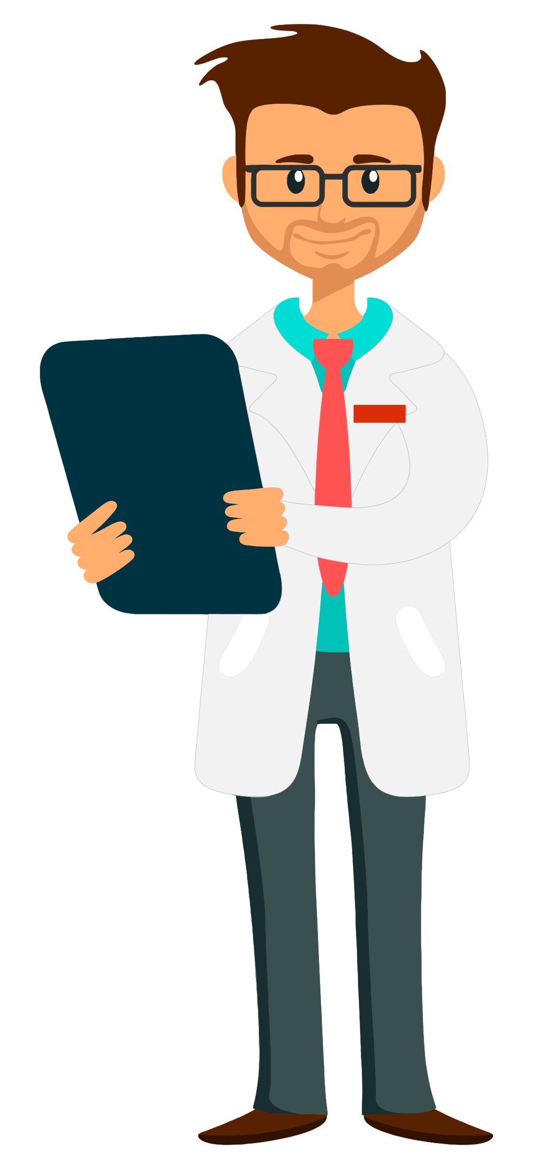 Doctor holding clipboard - fixed arm and whiter coat by The Martin