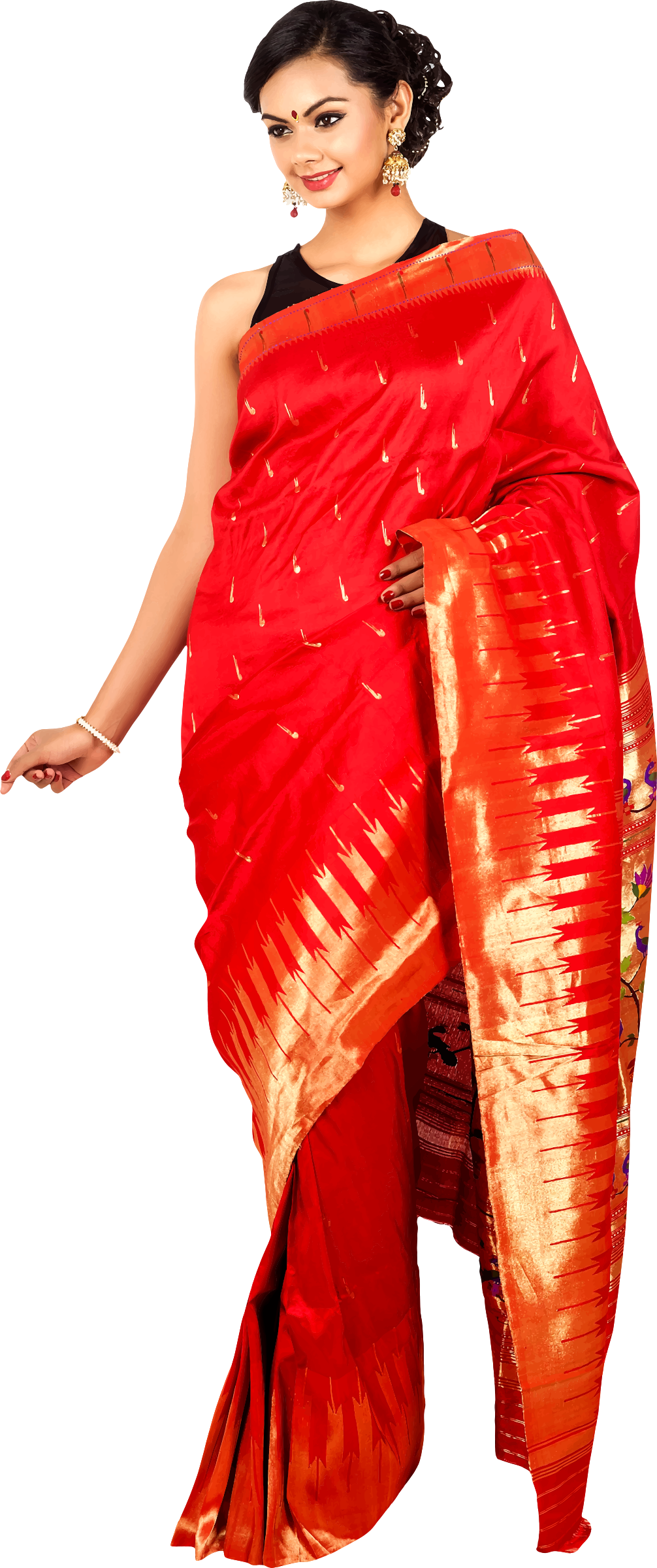Woman in saree 6 by Firkin