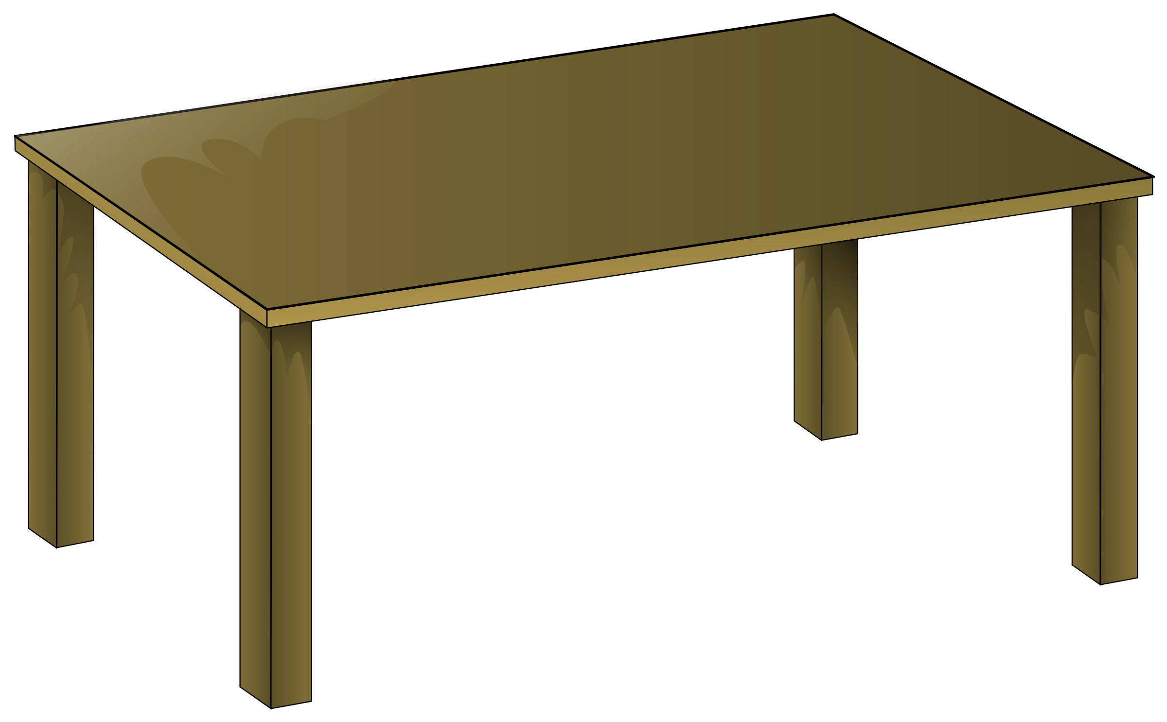 Wooden Table by bpcomp