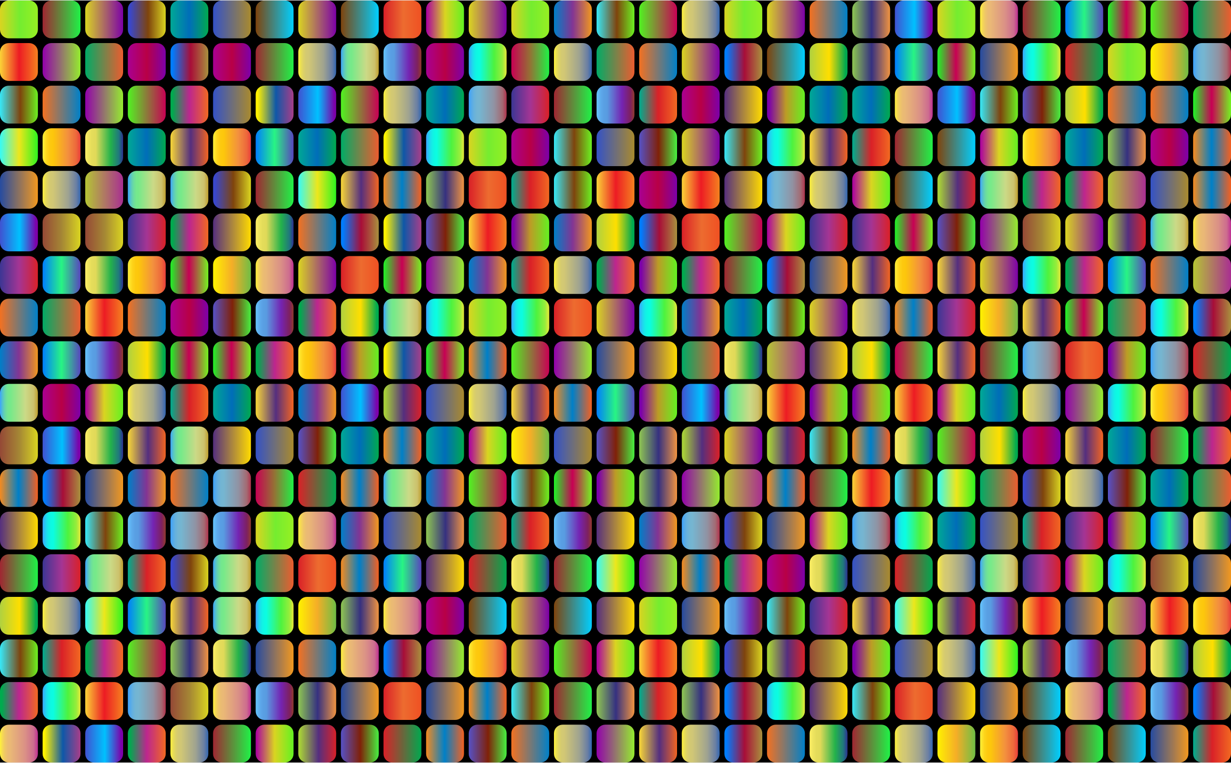 Prismatic Rounded Squares Grid 3 by GDJ