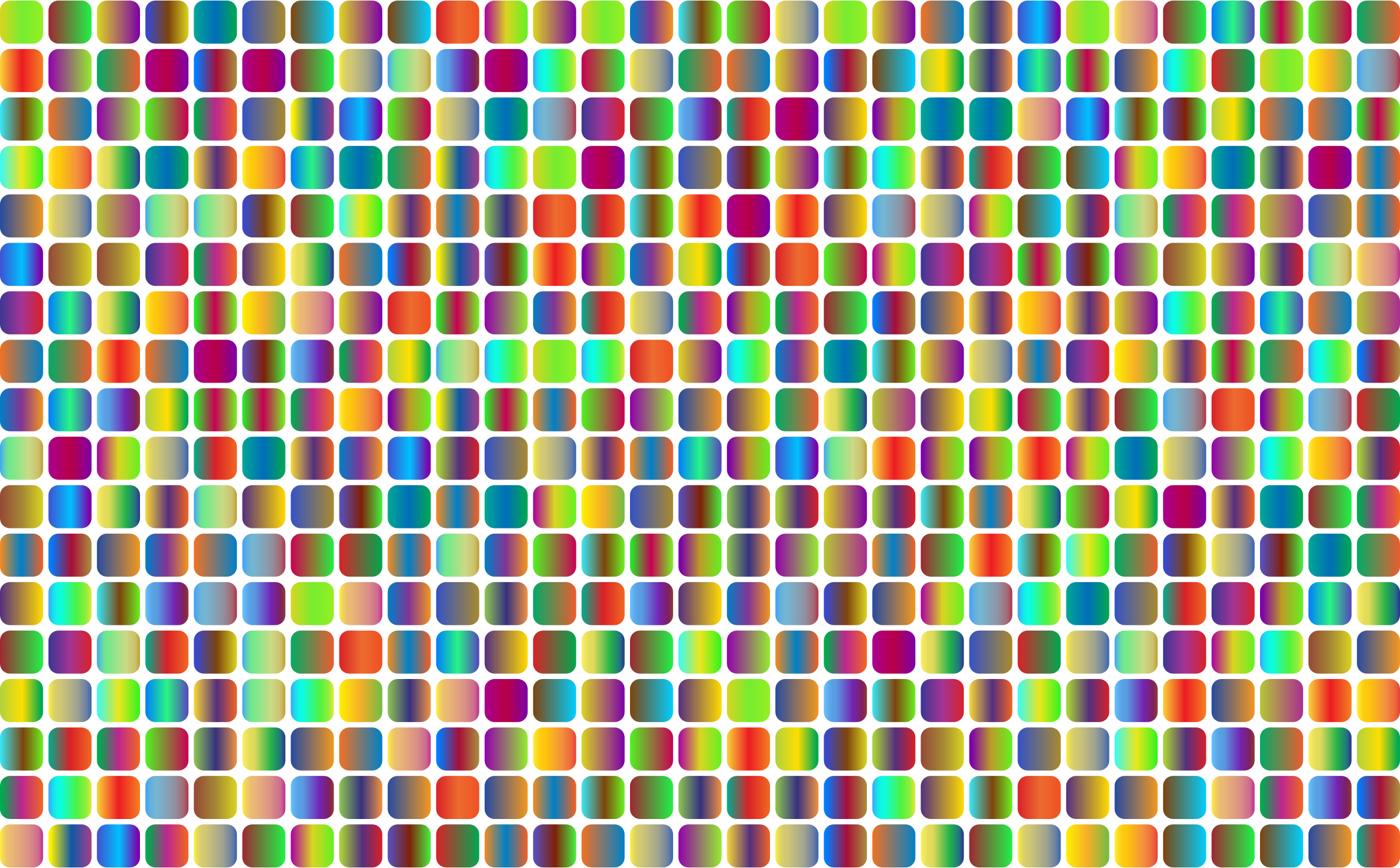 Prismatic Rounded Squares Grid 3 No Background by GDJ