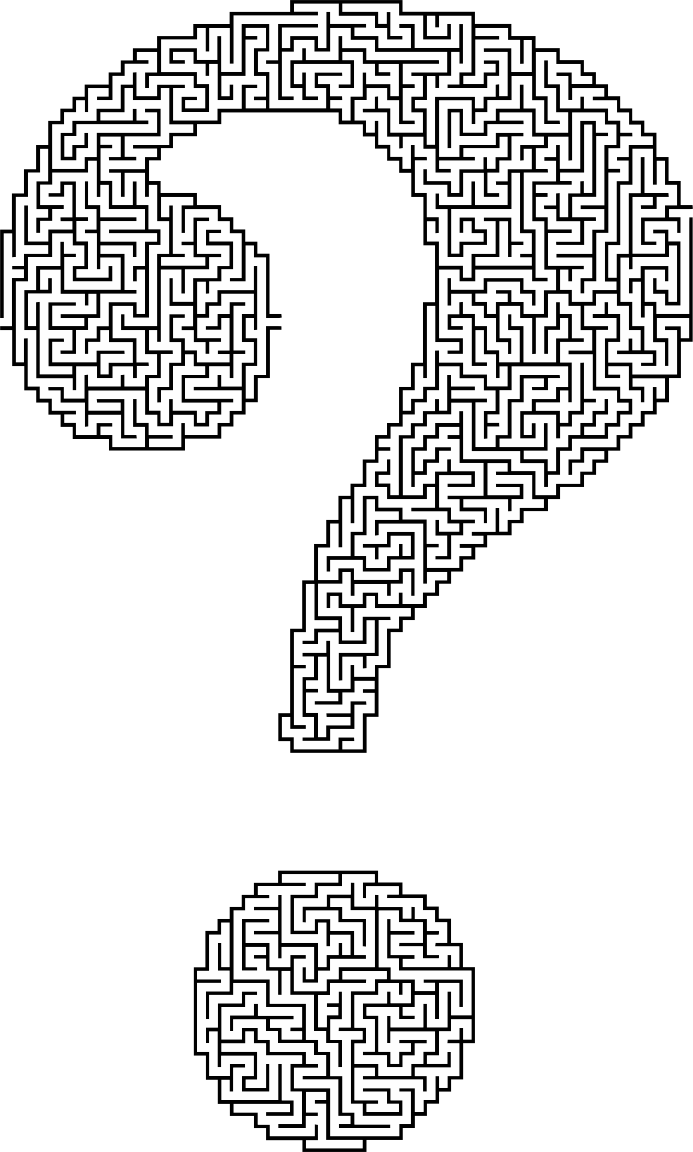 Question Mark Maze by GDJ