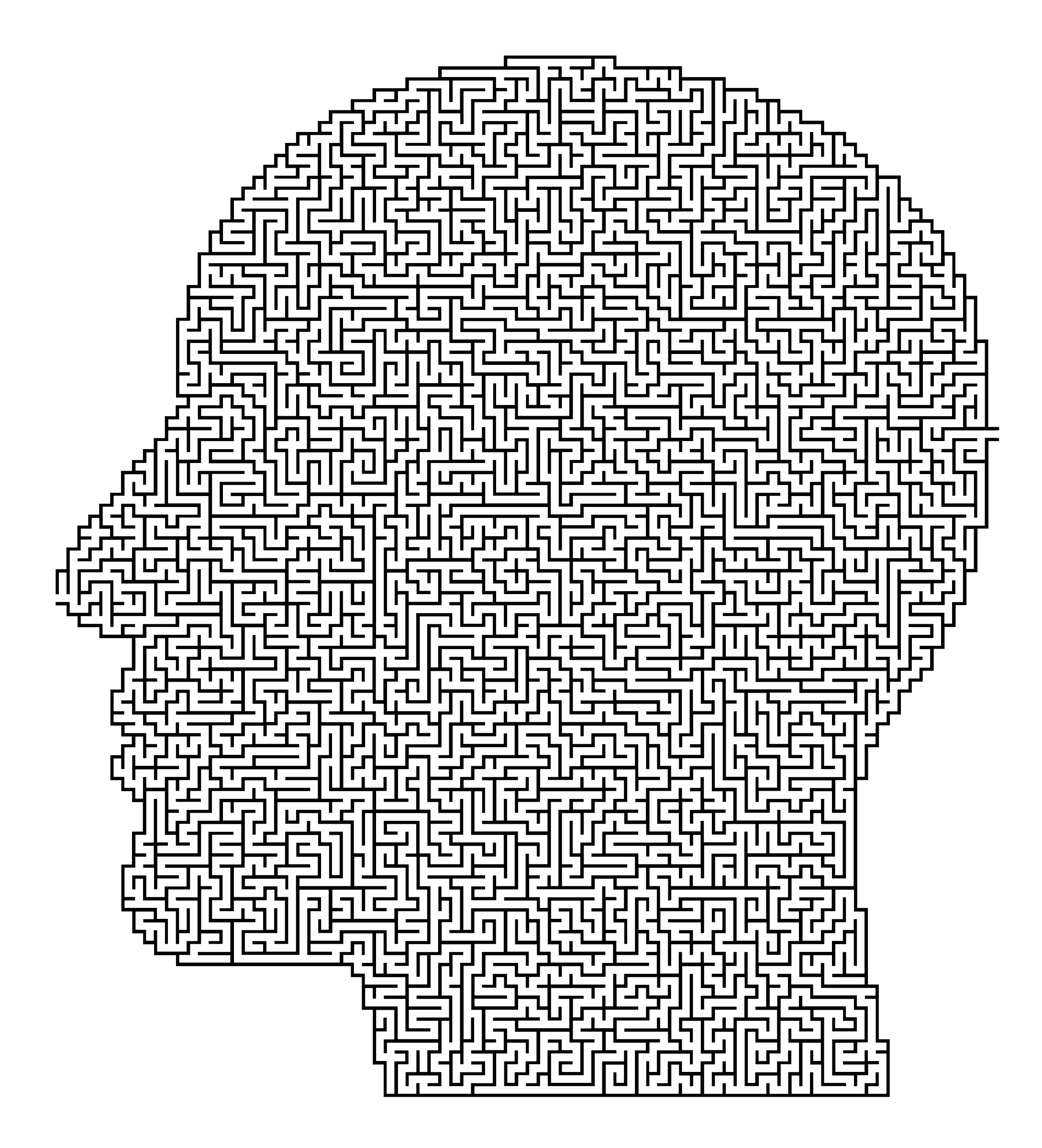 Man Head Maze by GDJ