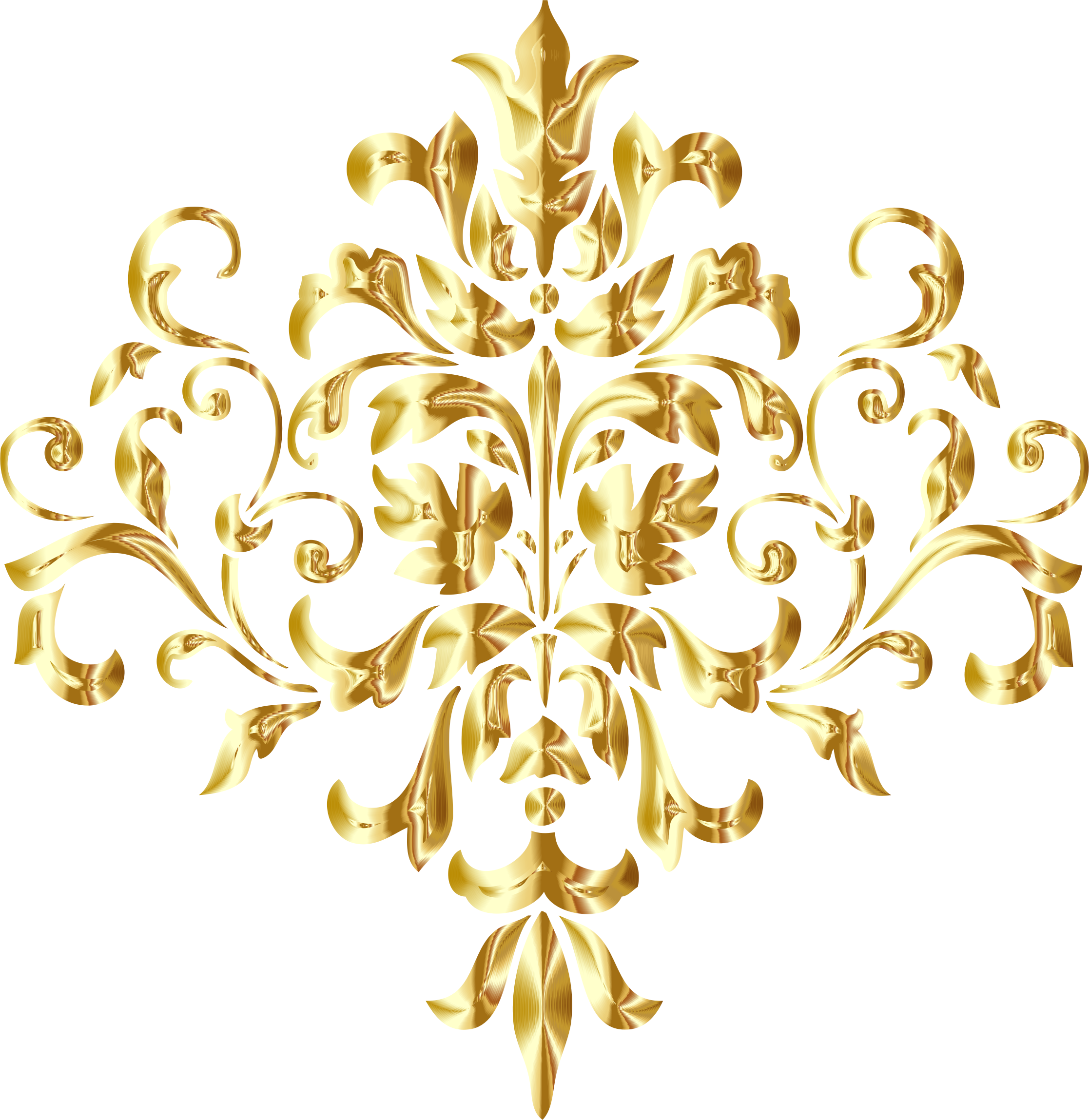 Golden Damask Design No Background by GDJ