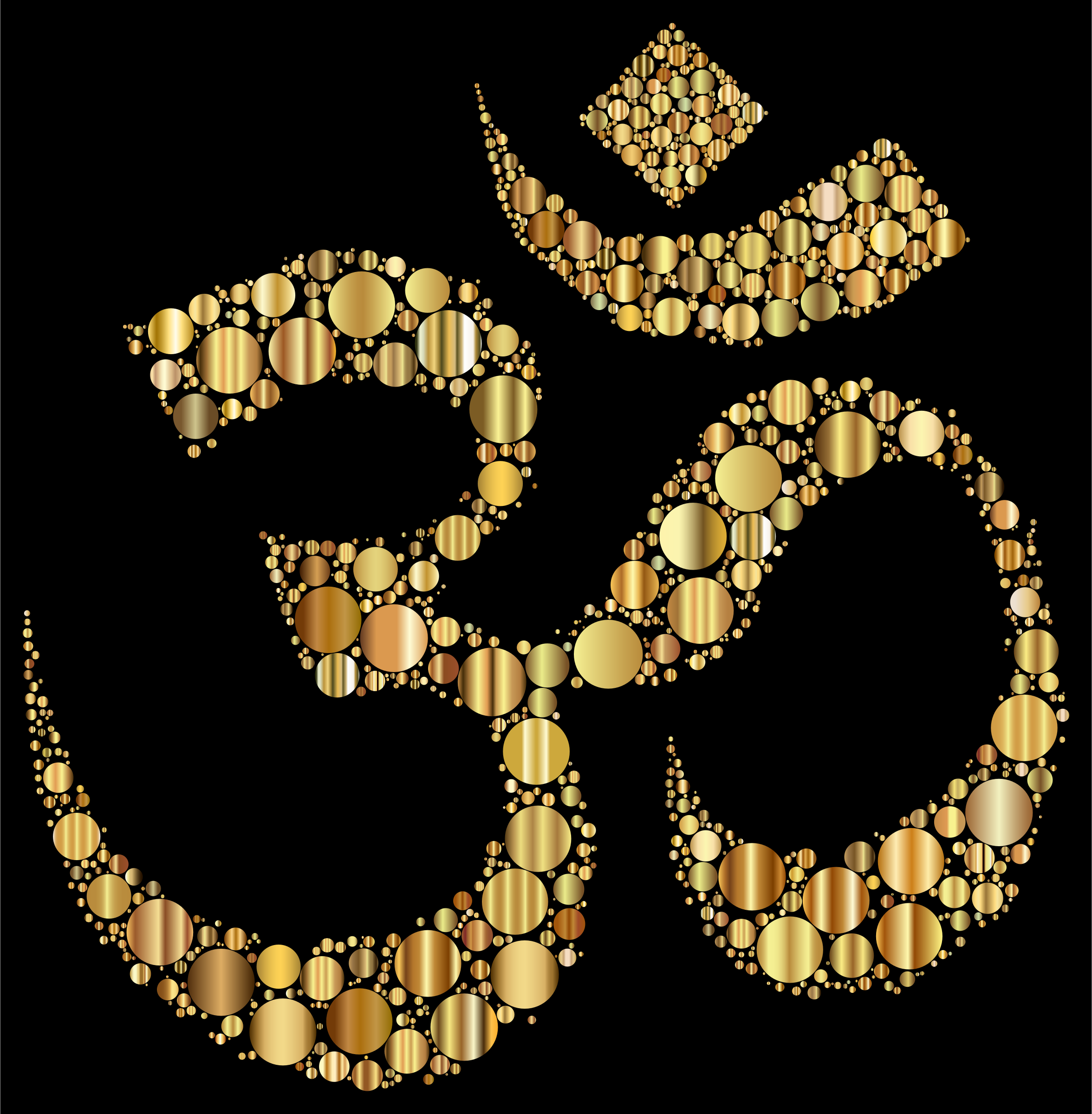 Golden Om Symbol Circles by GDJ