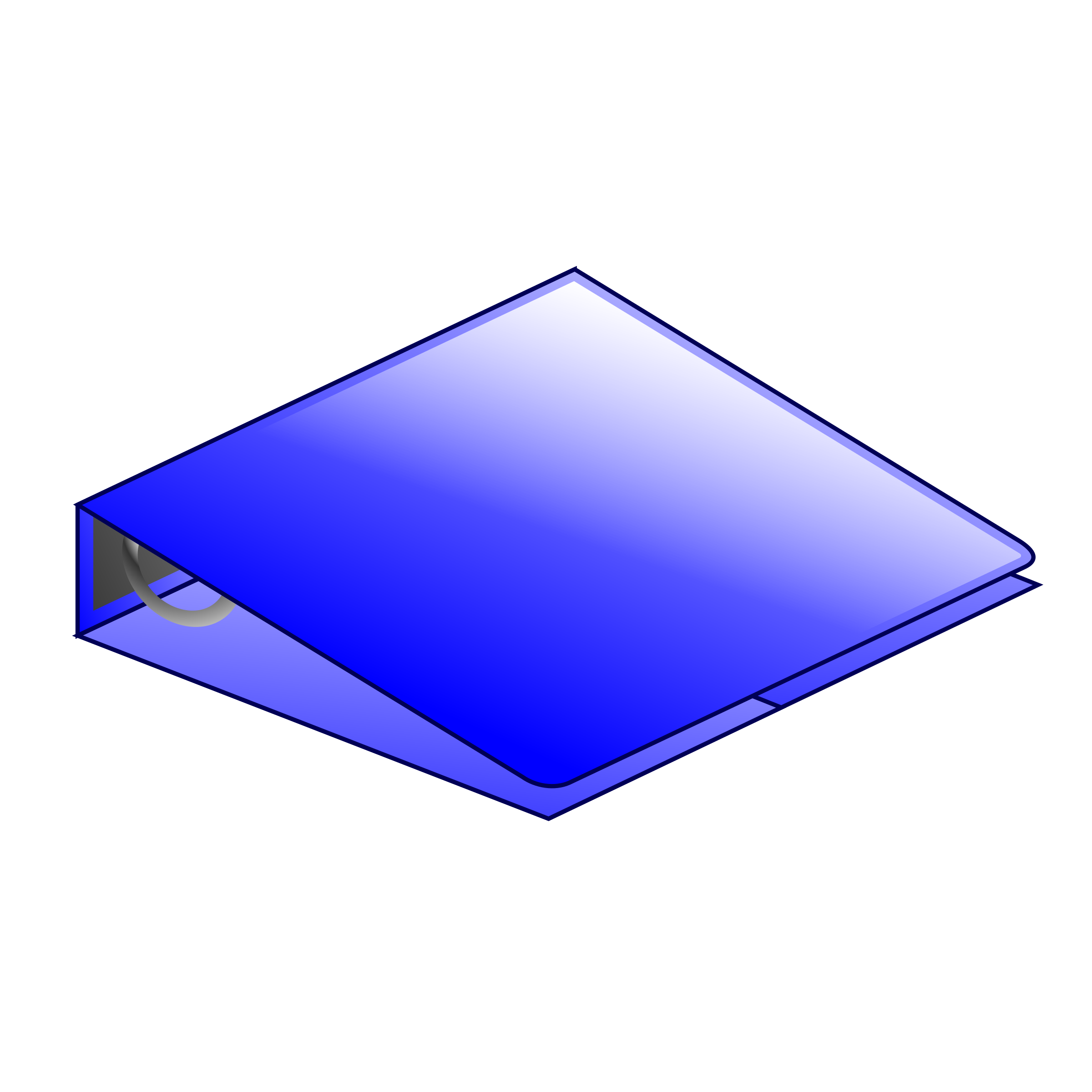 Blue 3-ring binder by jhnri4