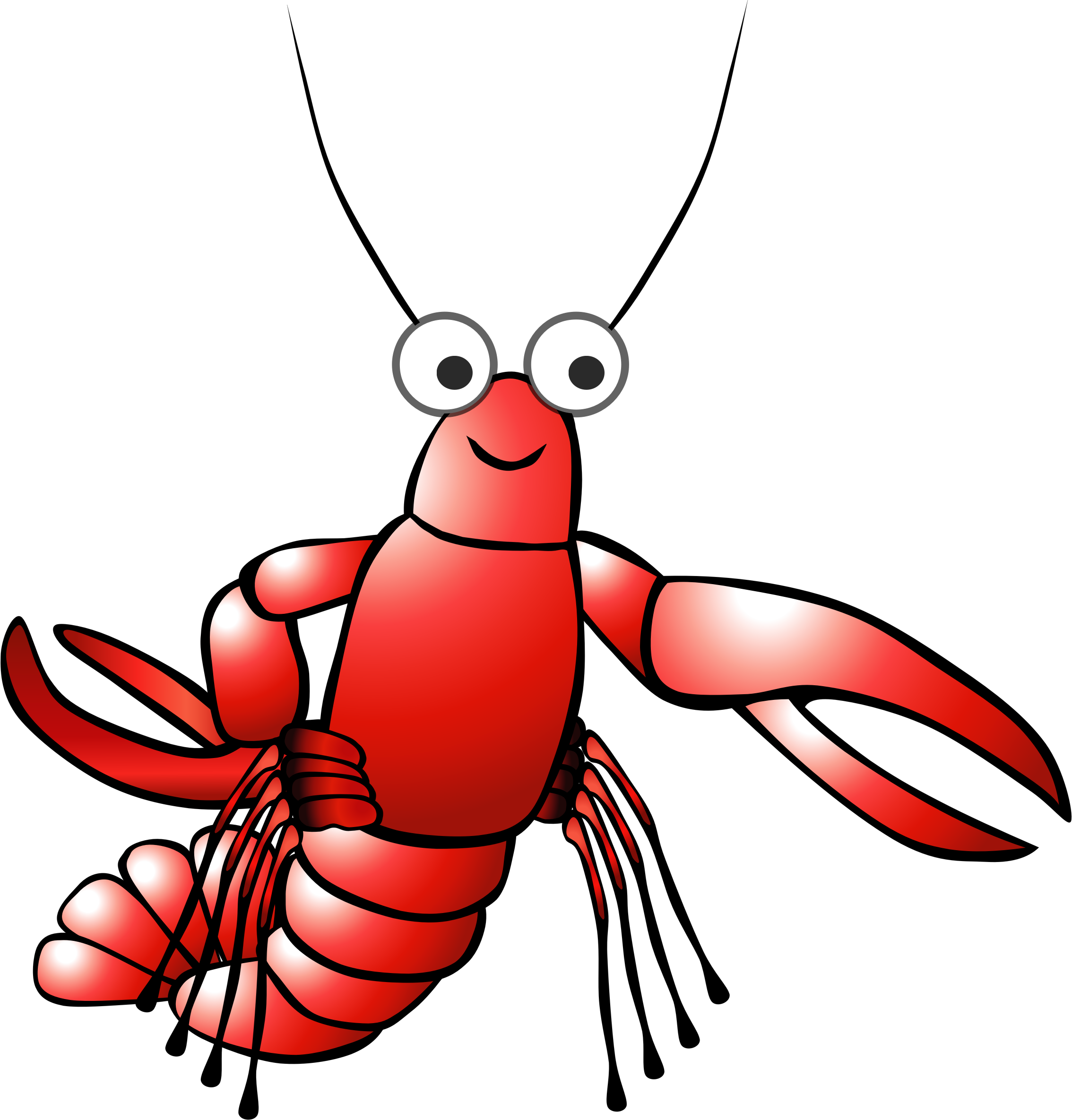 Red cartoon lobster  by cirenovy