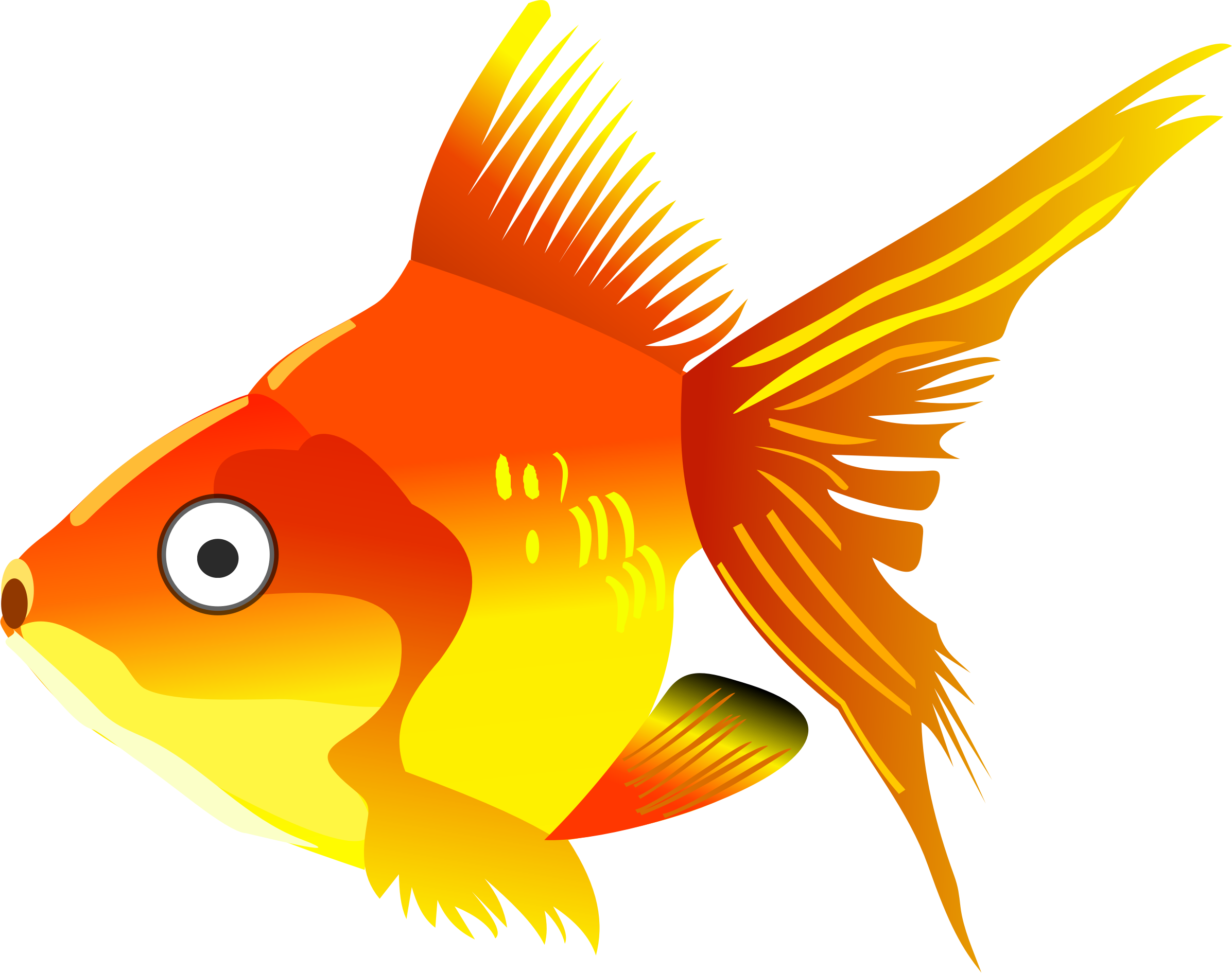 Cartoon goldfish by cirenovy