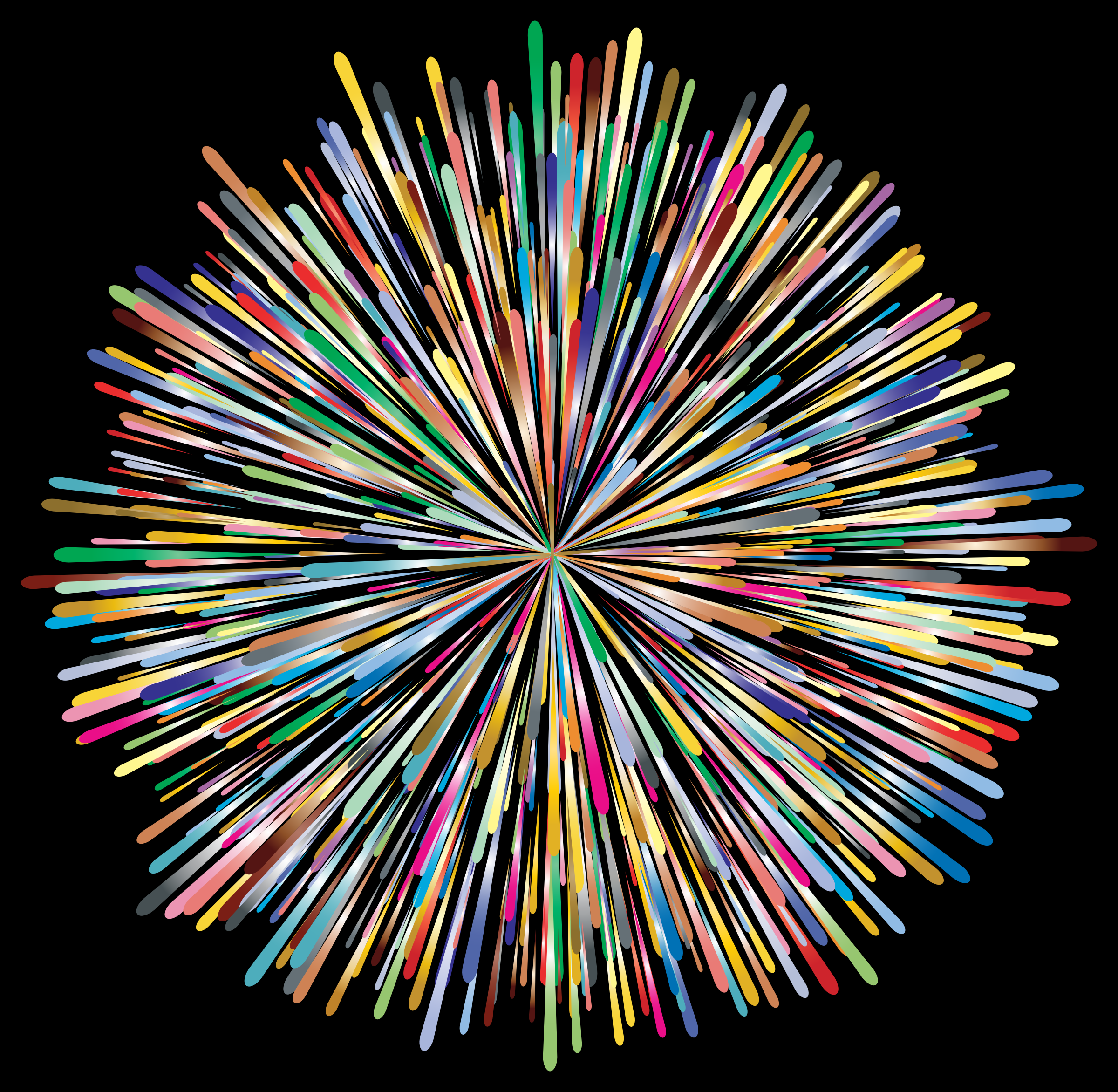 Clipart - Prismatic Fireworks 2