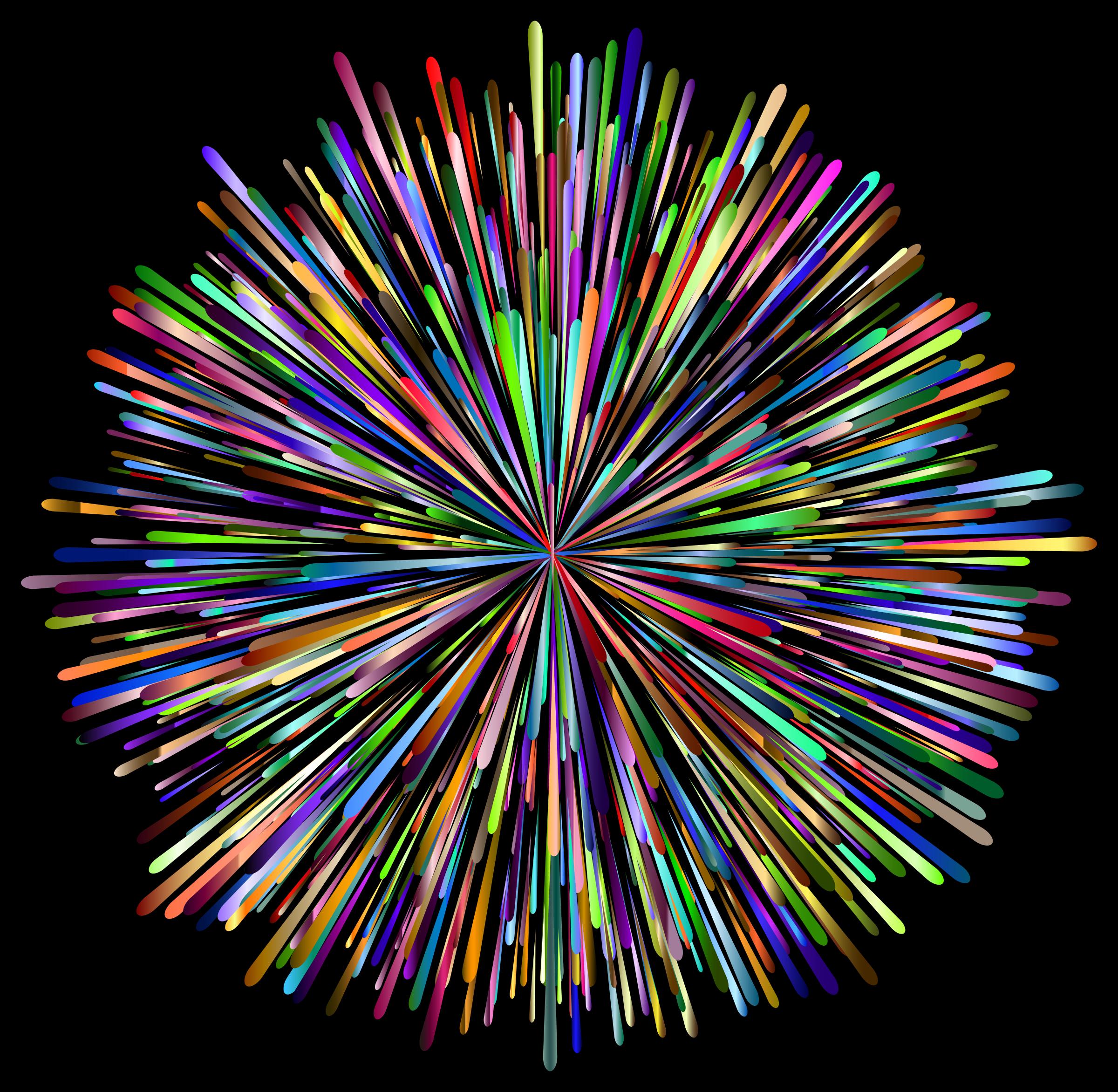 Clipart - Prismatic Fireworks 4