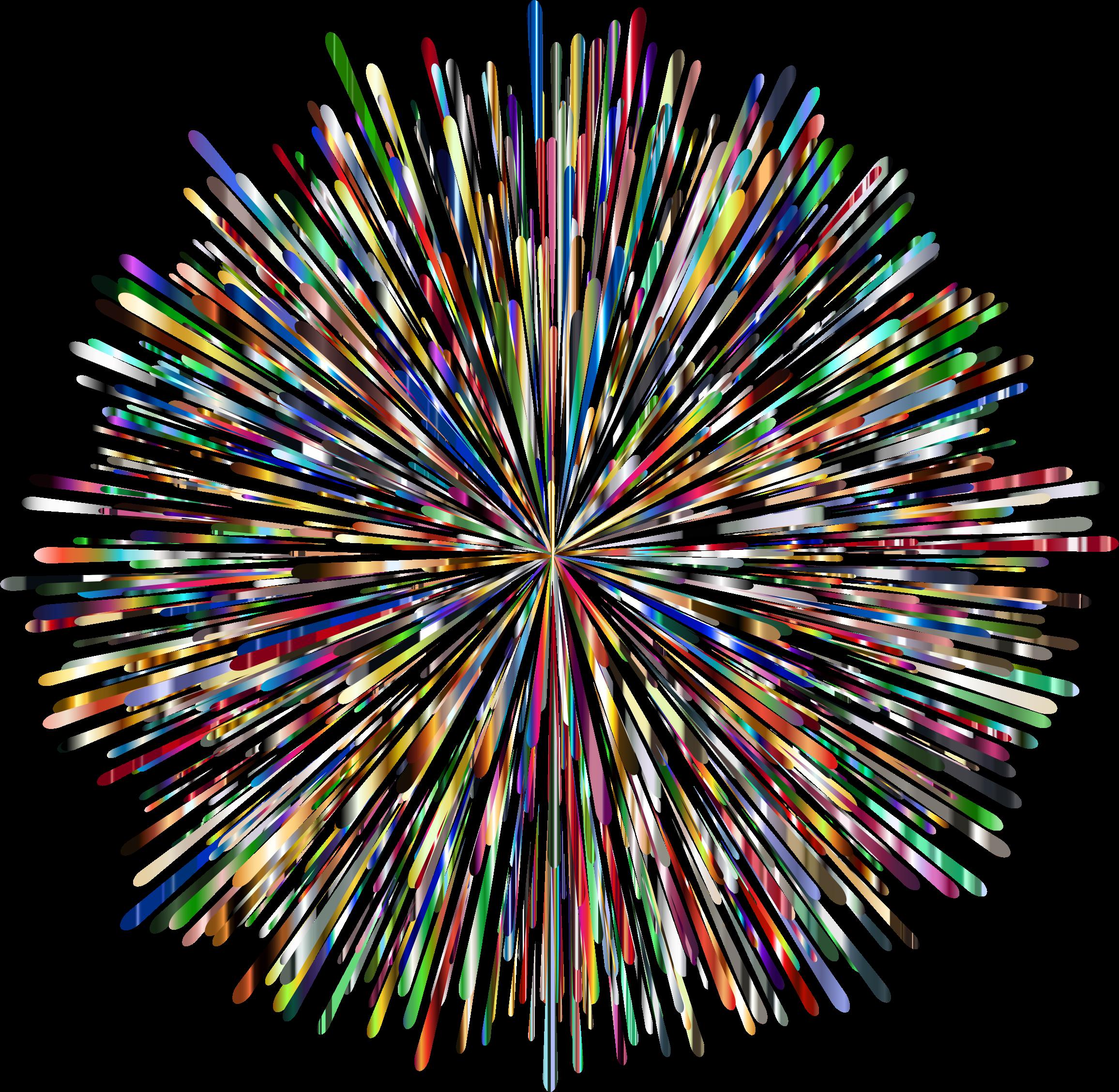 Clipart - Prismatic Fireworks 6 No Background