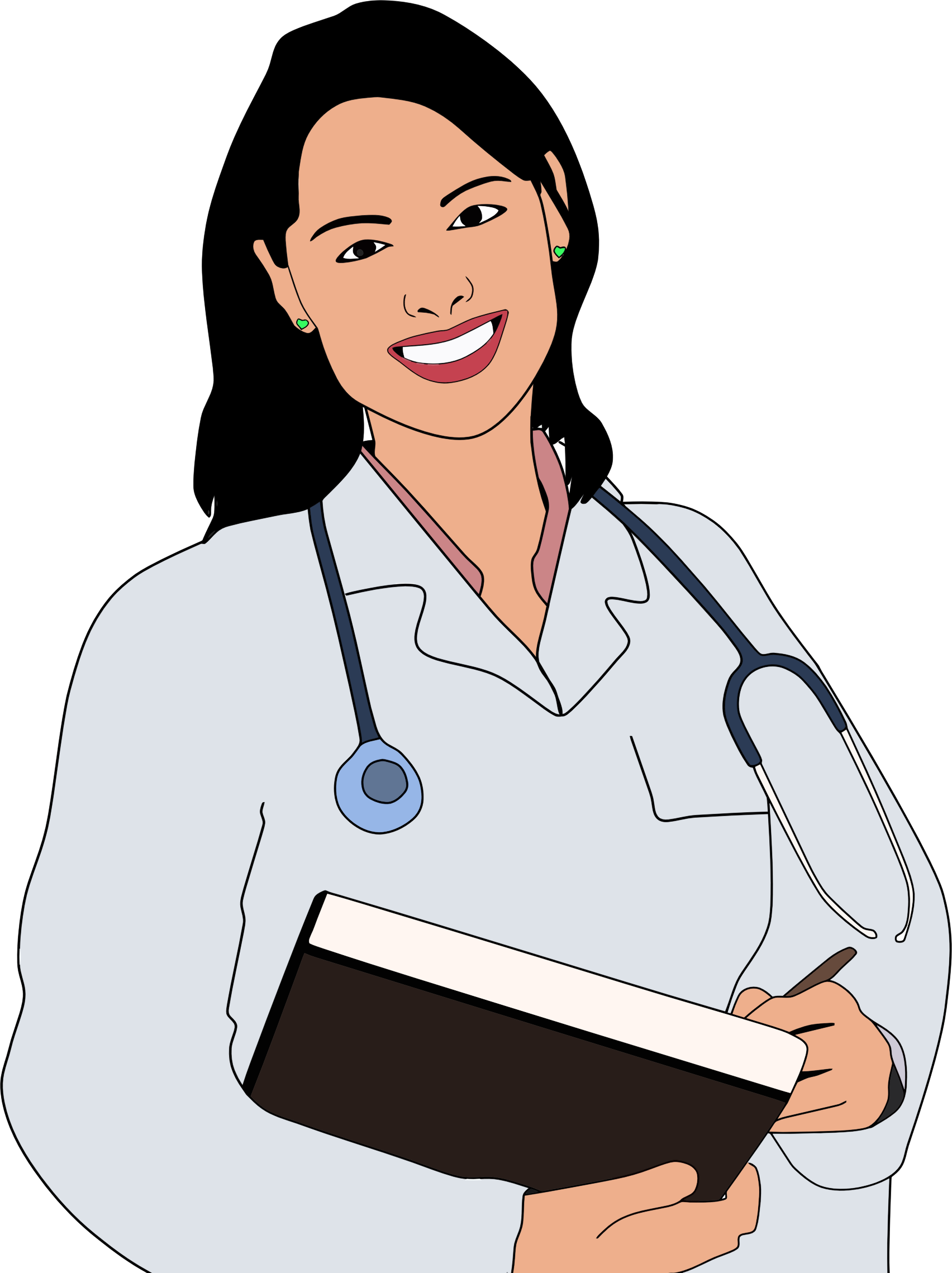 clipart young female doctor rh openclipart org Female Doctor Drawing Doctor Bag Clip Art