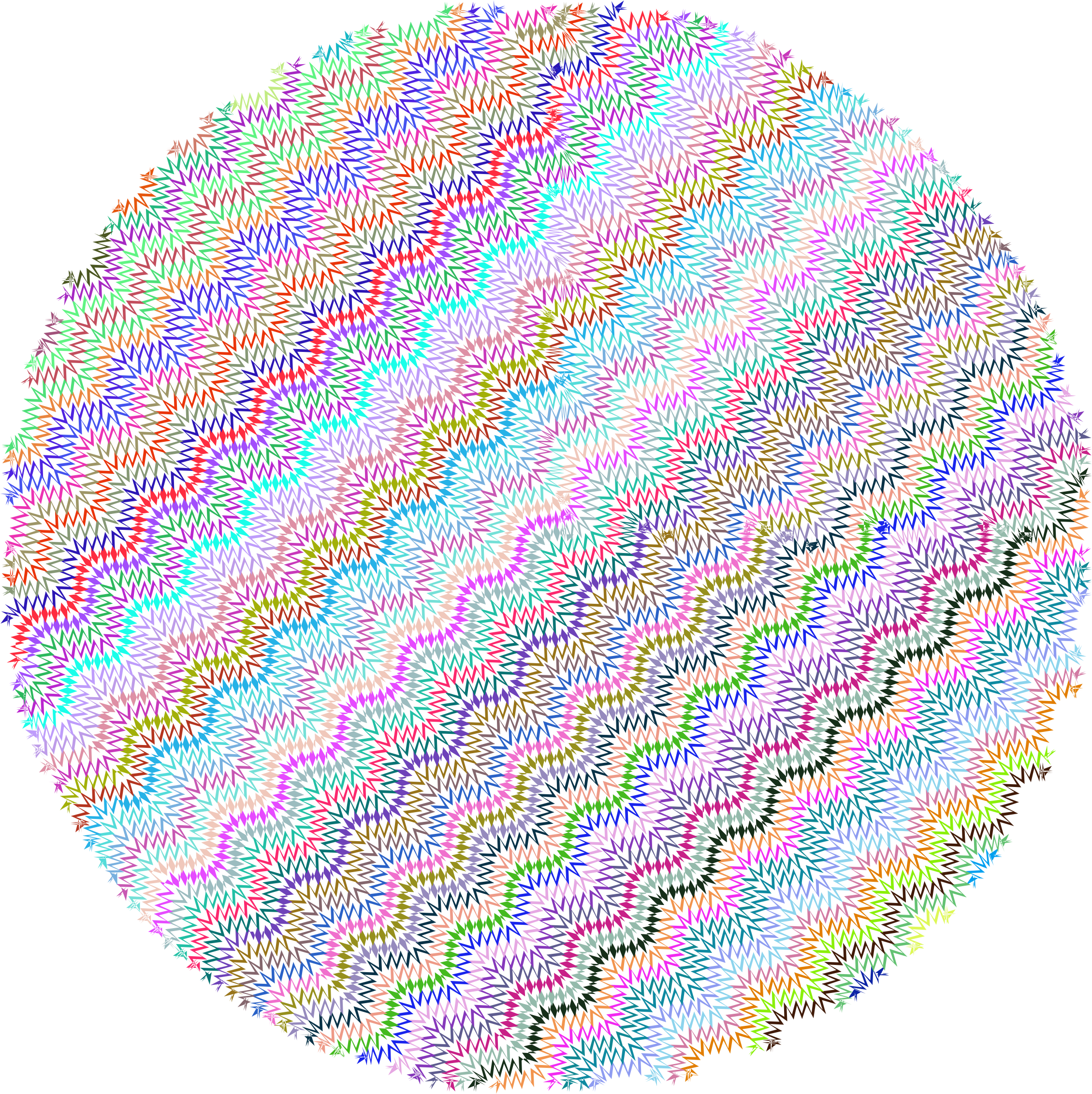 Zig Zag Circle No Background by GDJ