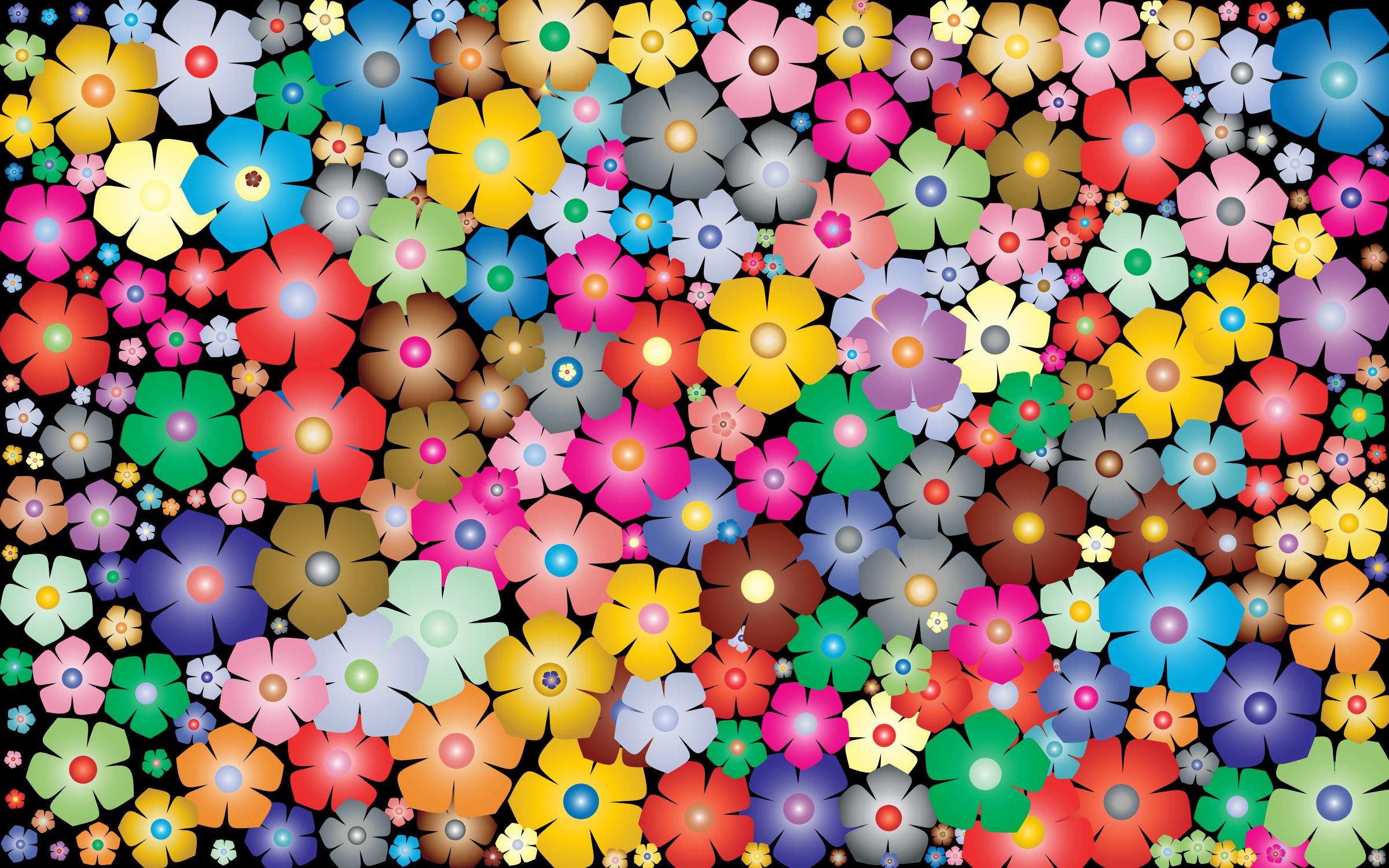 Simple Floral Background 2 by GDJ