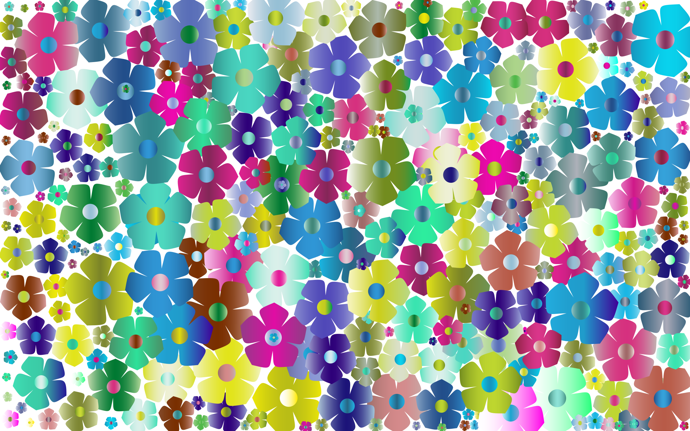 Simple Floral Background 3 No Black by GDJ