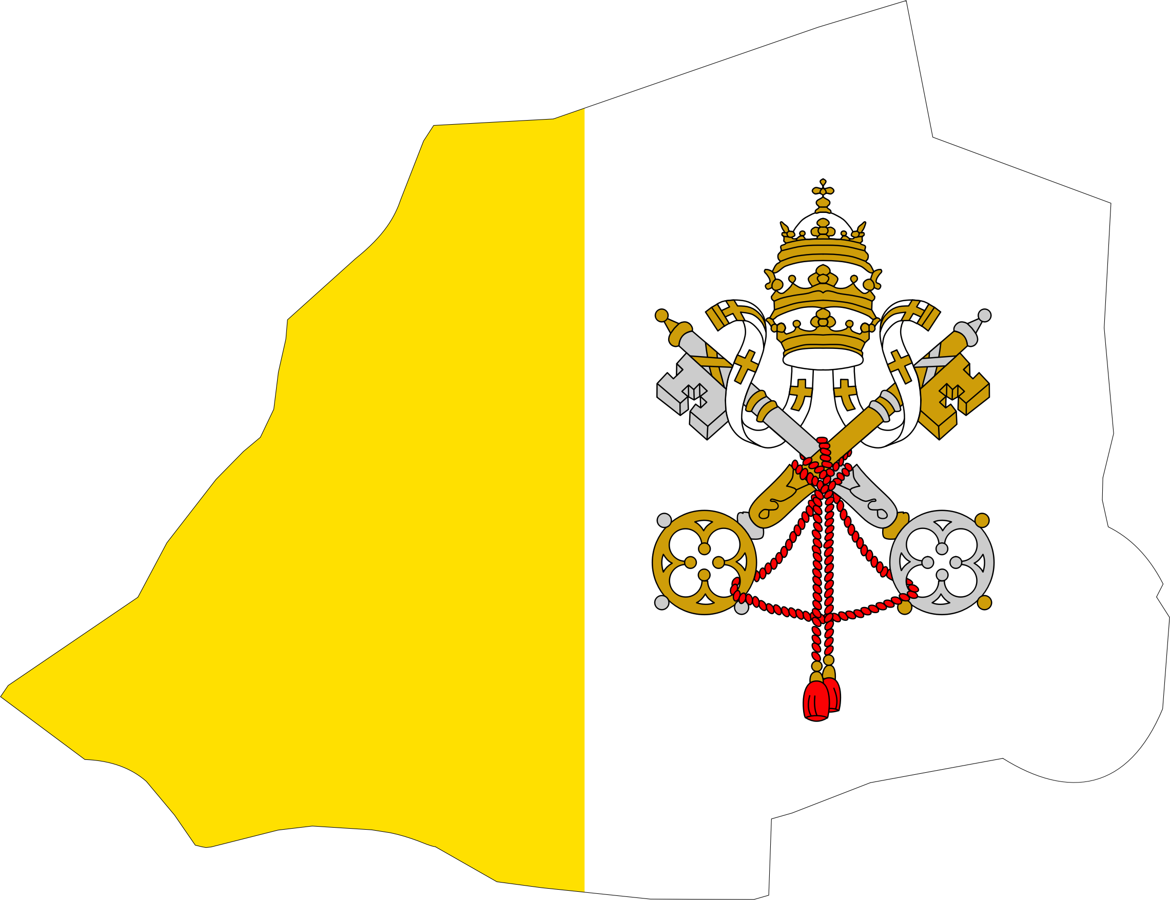 Vatican City Map Flag by GDJ