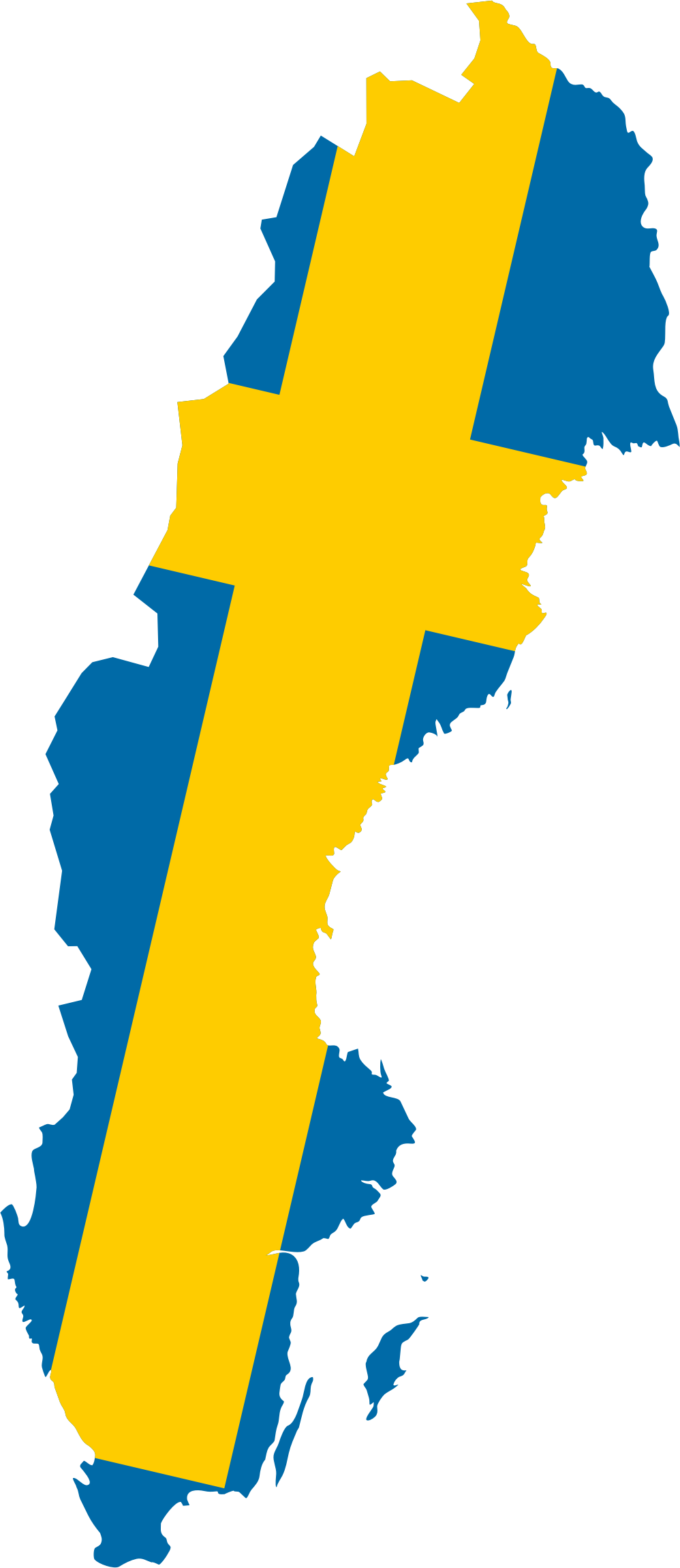 Sweden Map Flag by GDJ