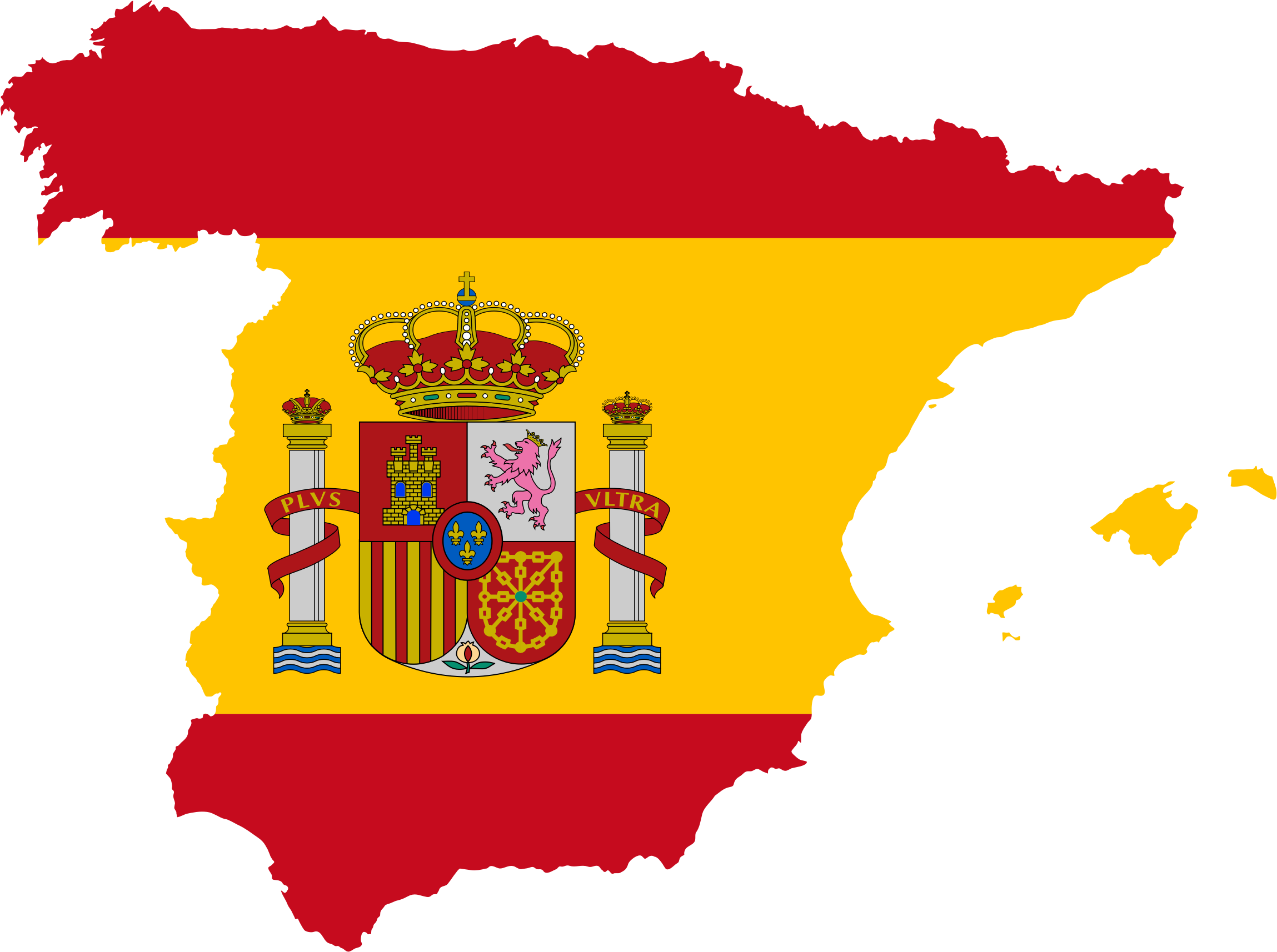 Spain Map Flag by GDJ