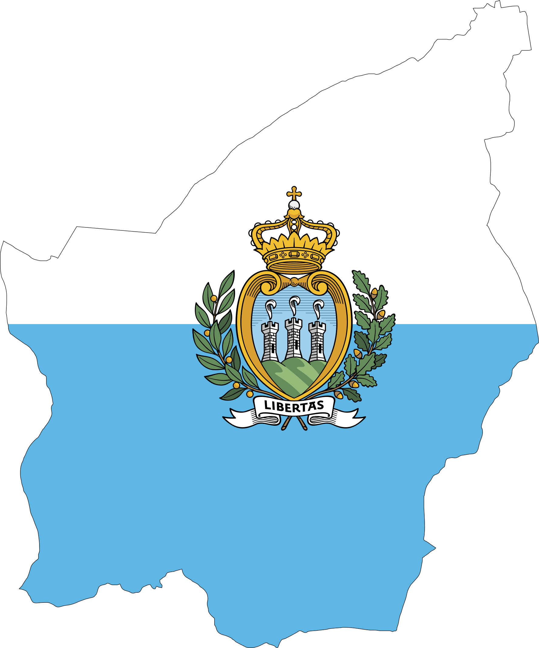 San Marino Map Flag by GDJ