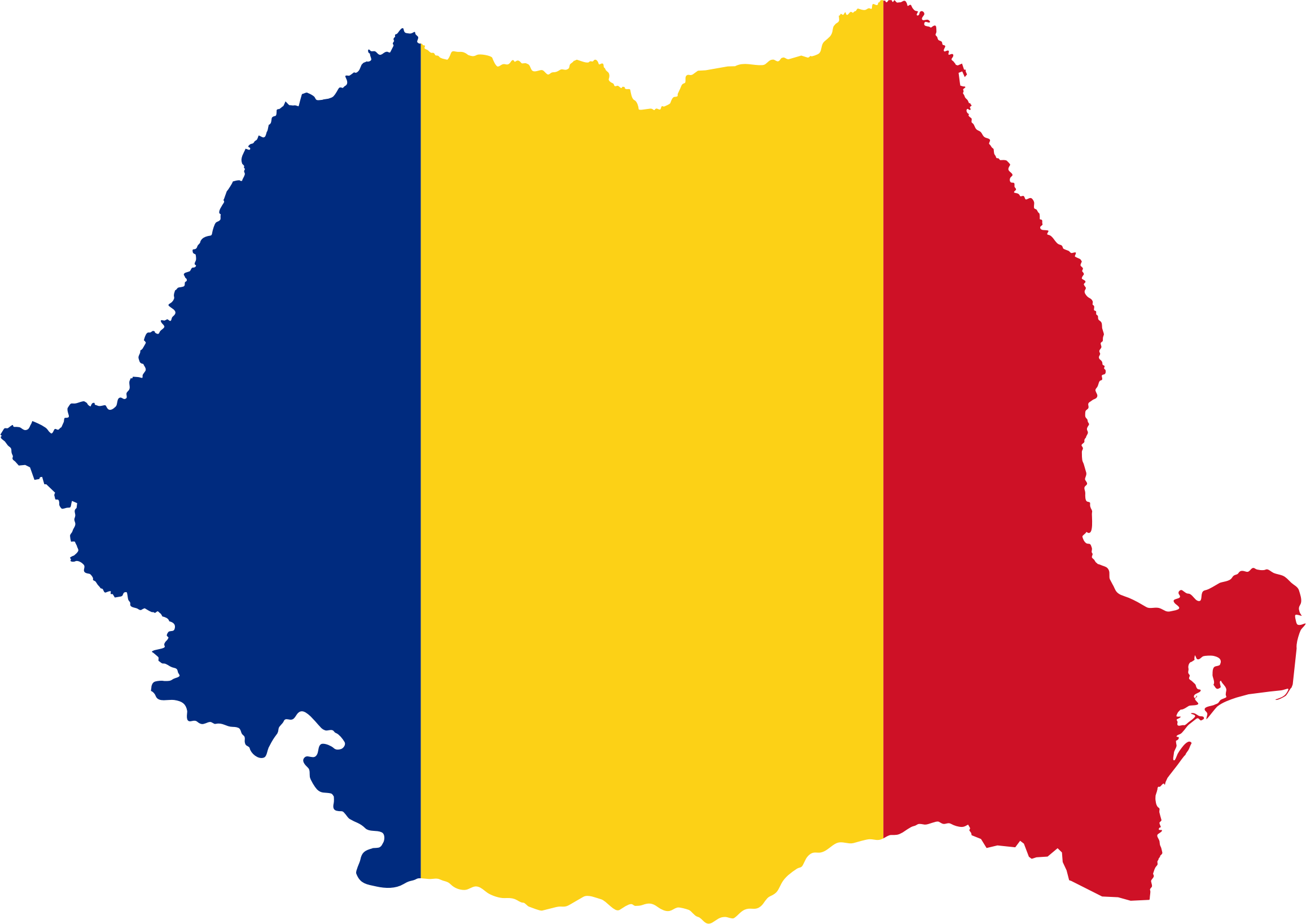 Romania Map Flag by GDJ