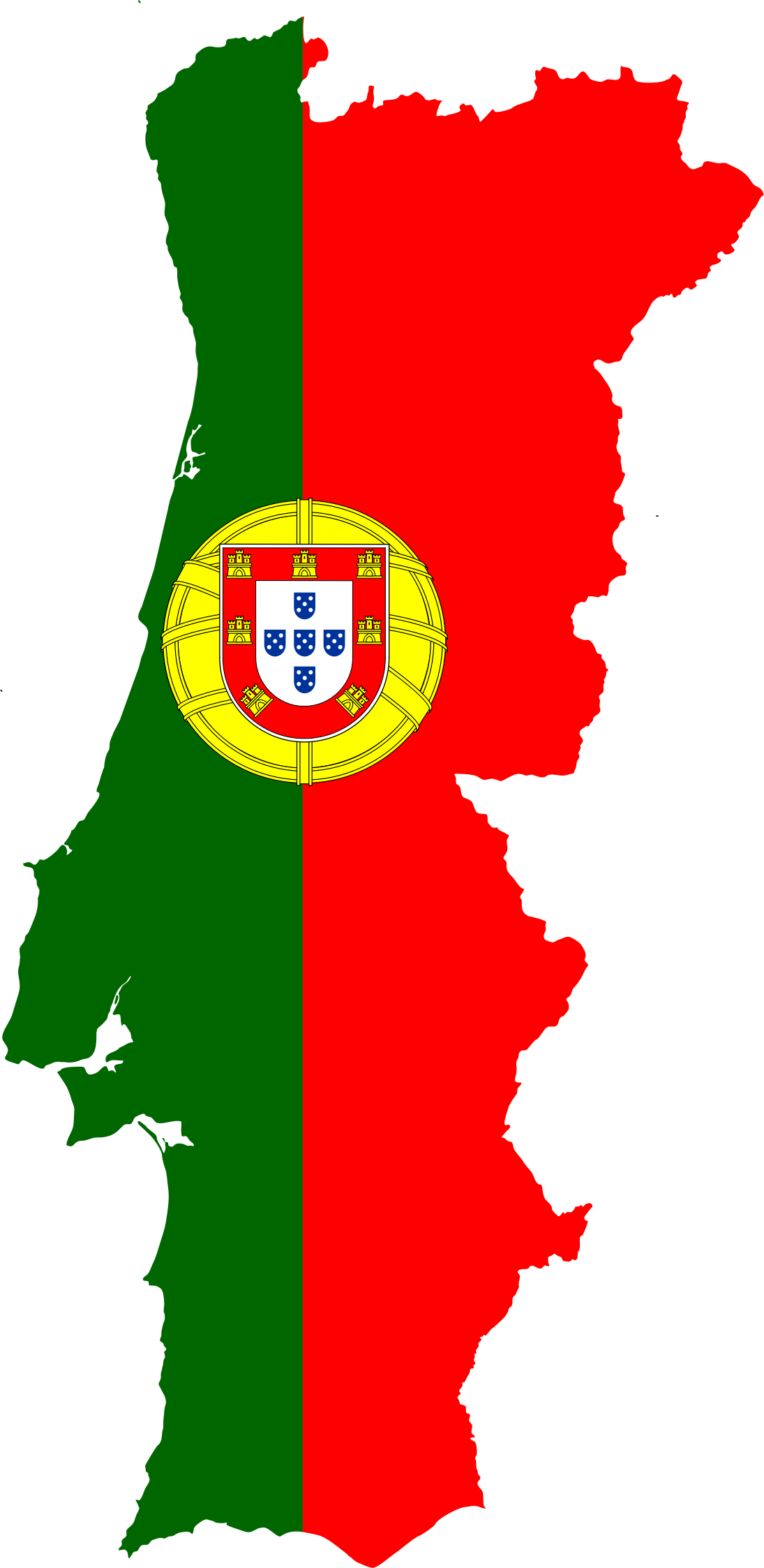 Clipart Portugal Map Flag - Portugal map