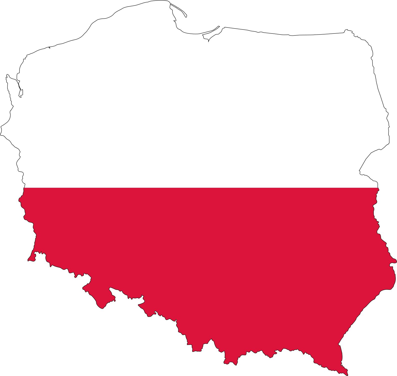 Poland Map Flag by GDJ