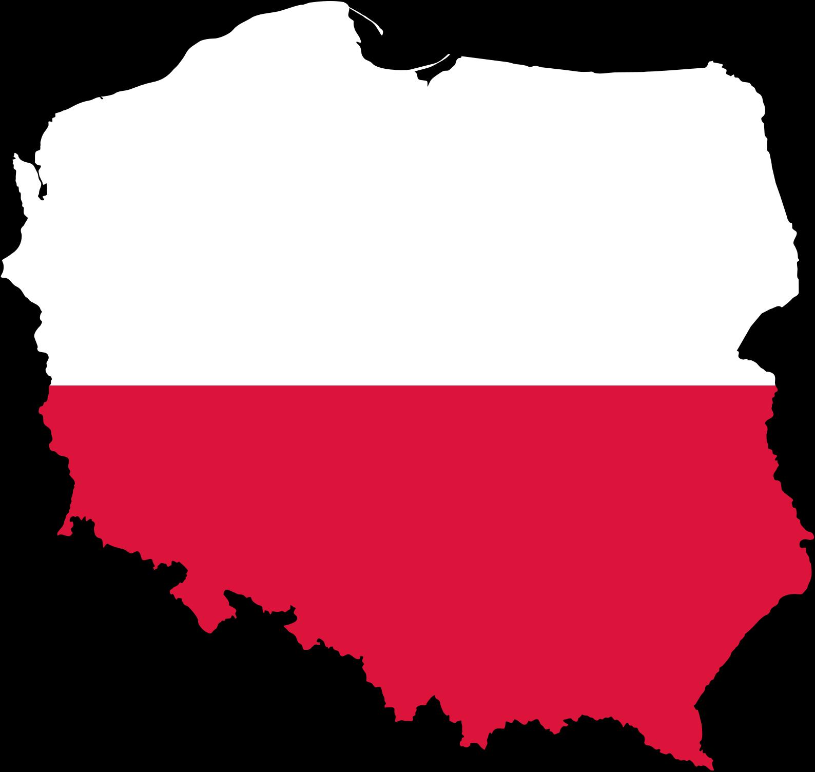 Clipart - Poland Map Flag
