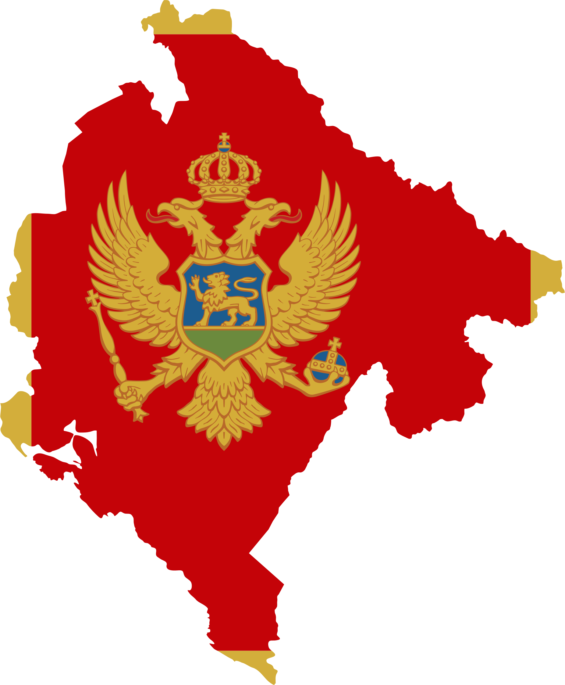 Montenegro Map Flag by GDJ