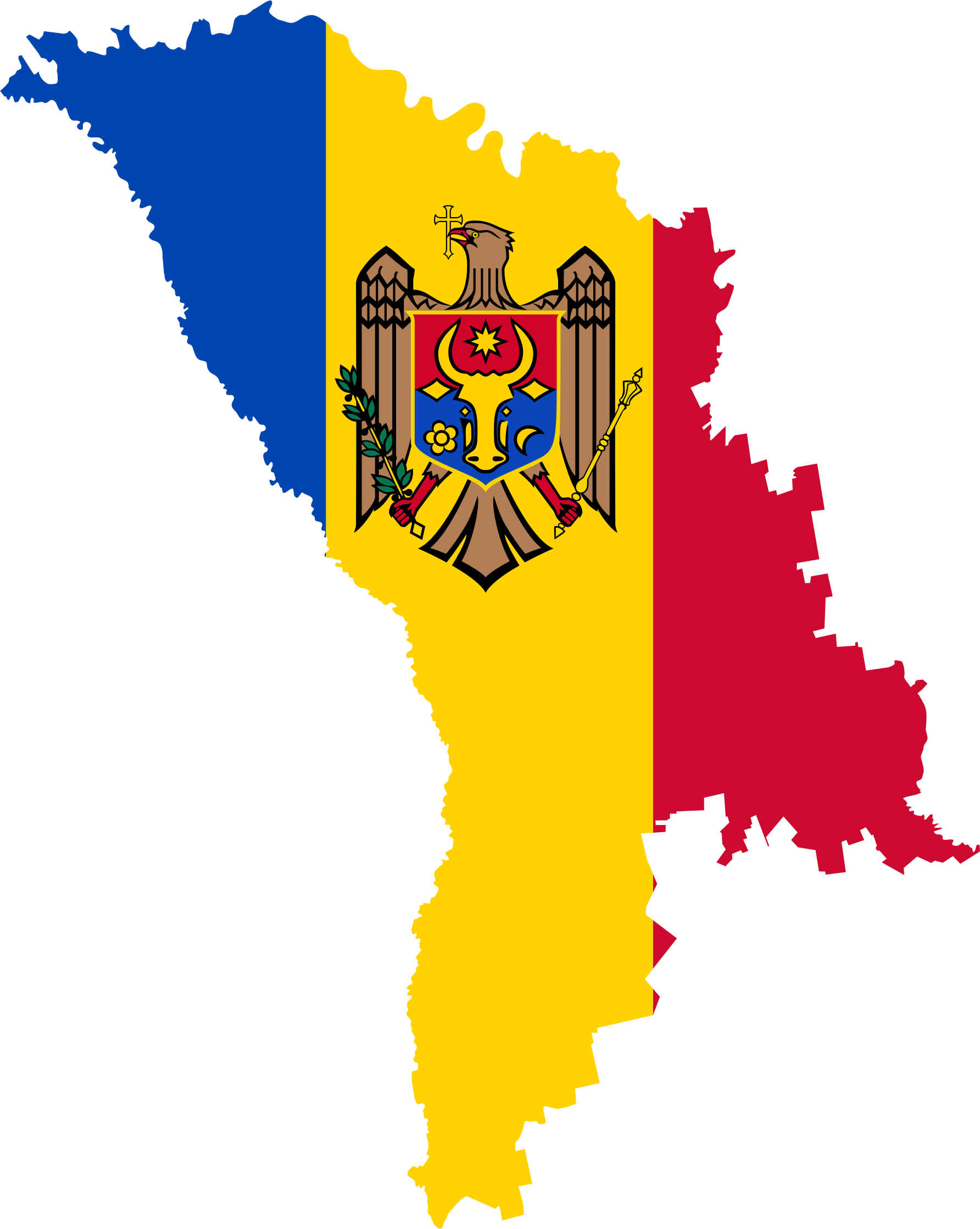 Clipart Moldova Map Flag - Moldova map