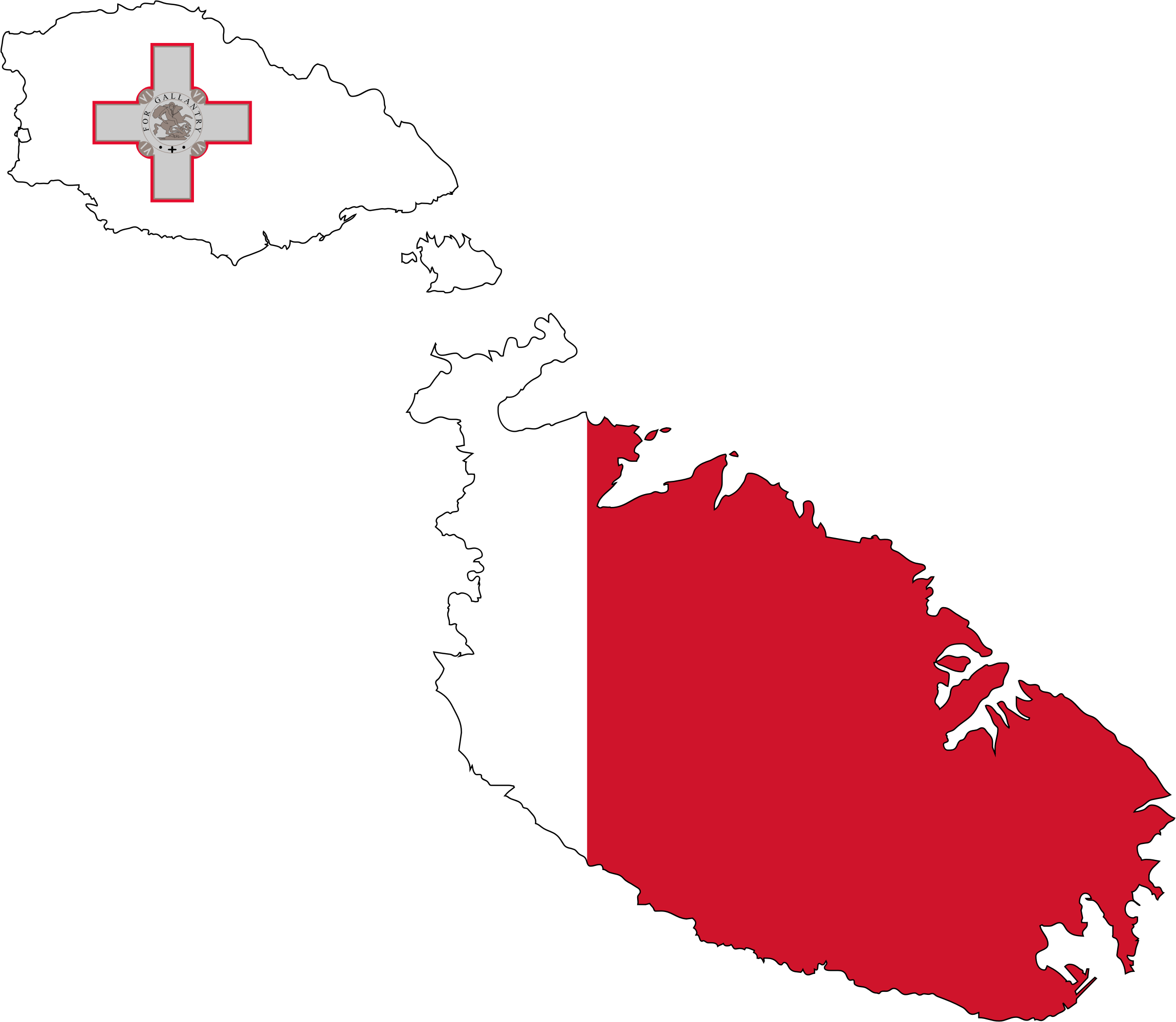 Malta Map Flag by GDJ