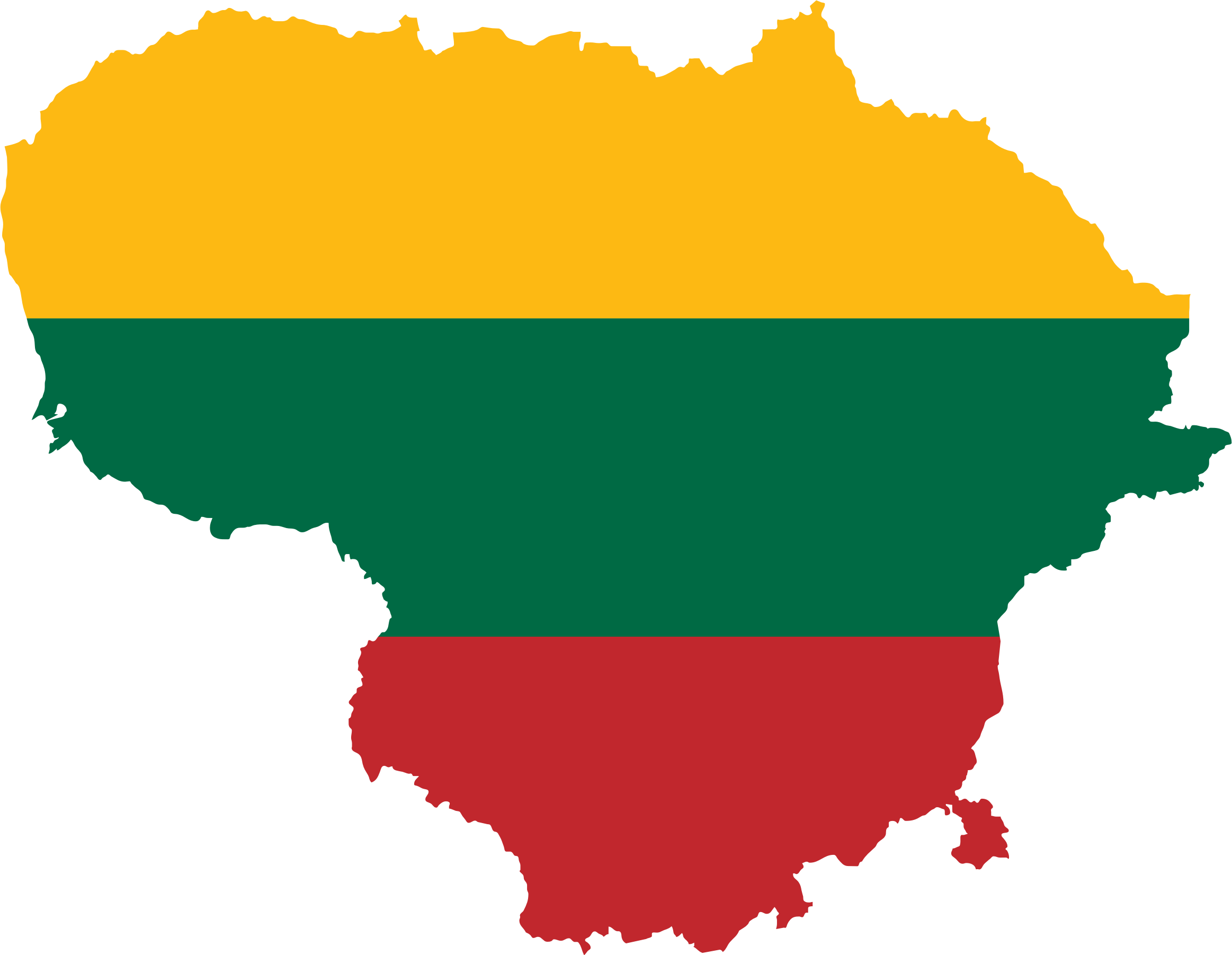 Lithuania Map Flag by GDJ