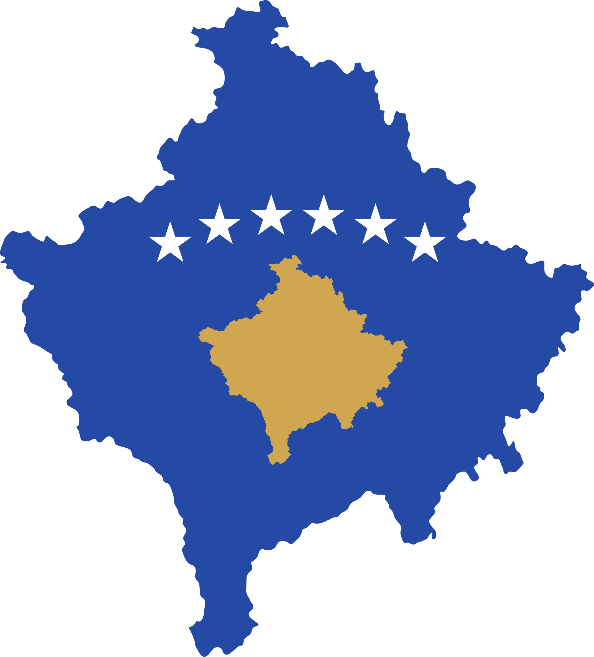 Kosovo Map Flag by GDJ