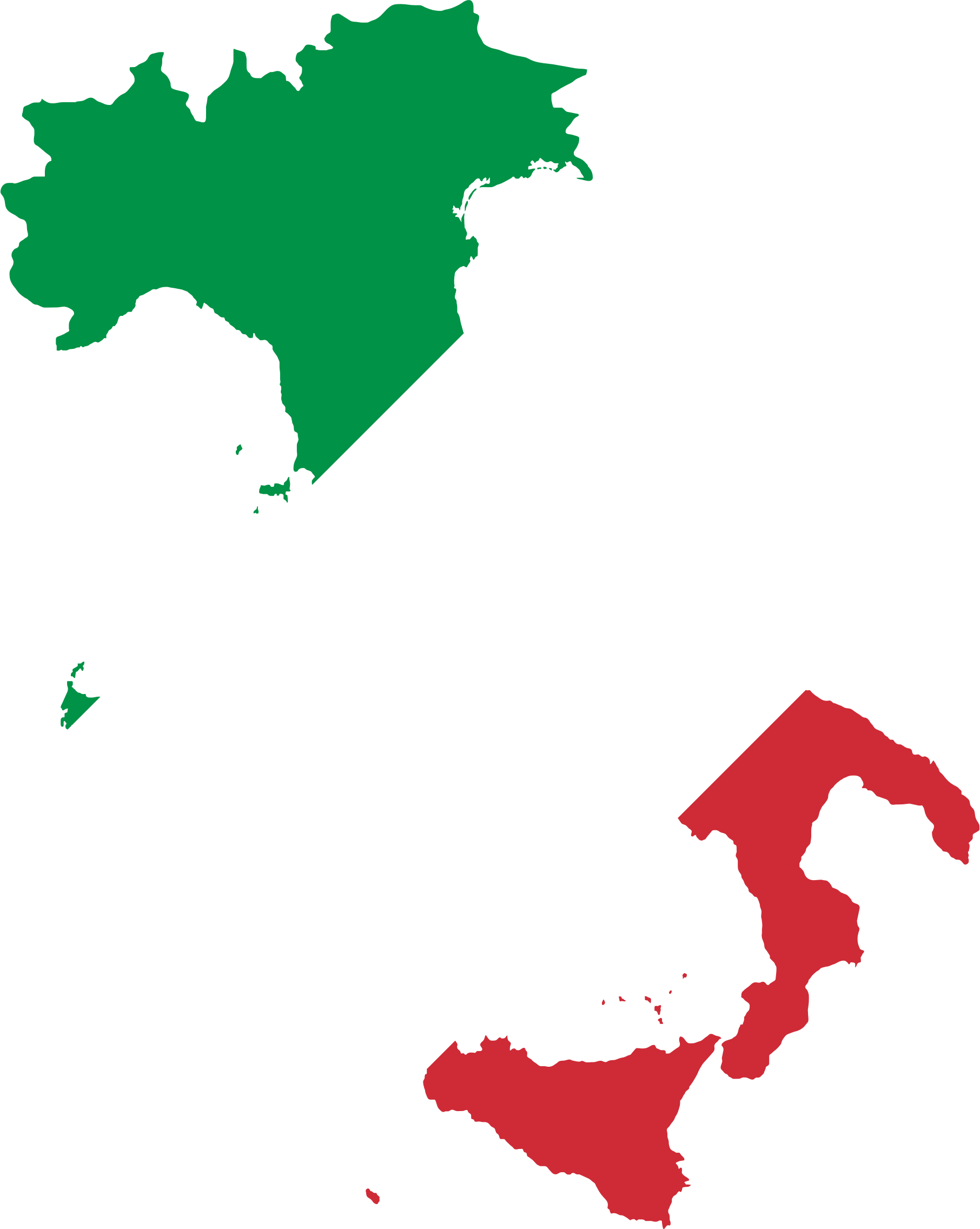 Italy Map Flag by GDJ