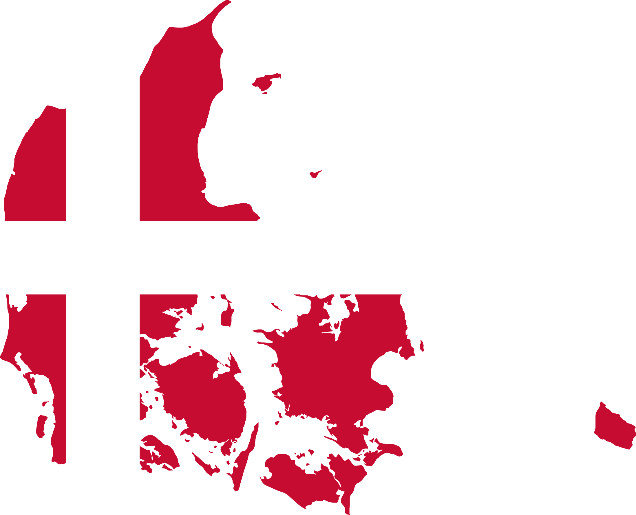 Denmark Map Flag by GDJ