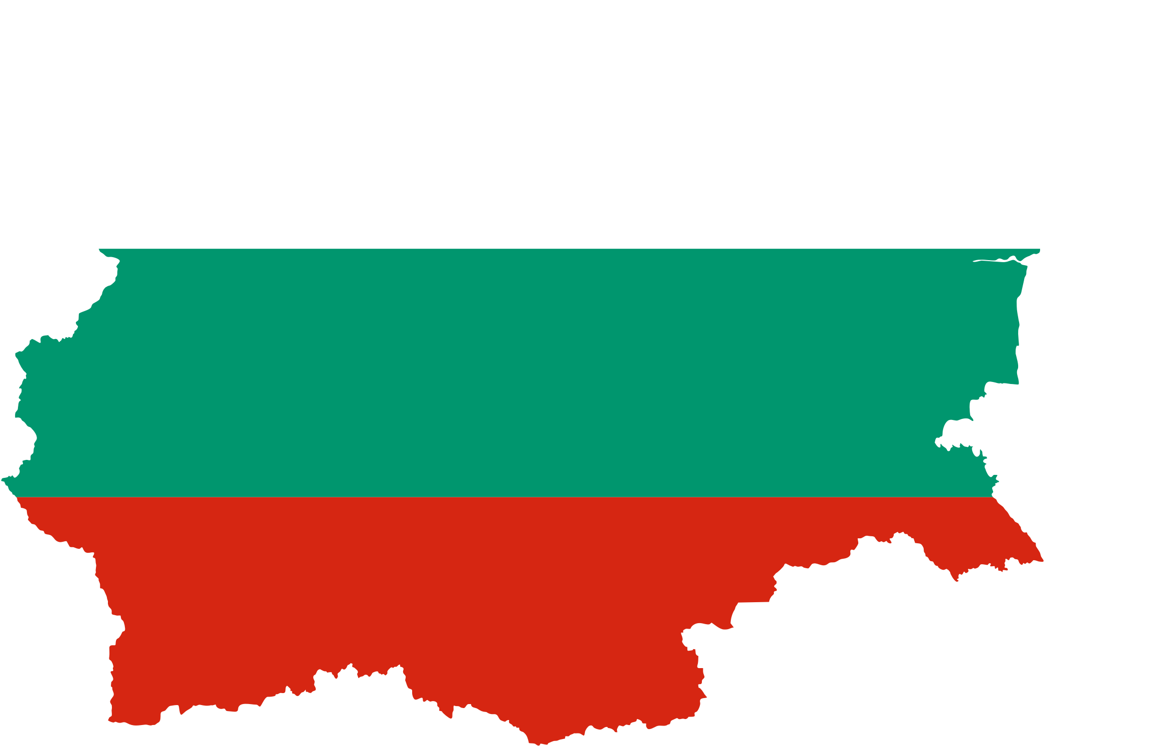 Bulgaria Map Flag by GDJ