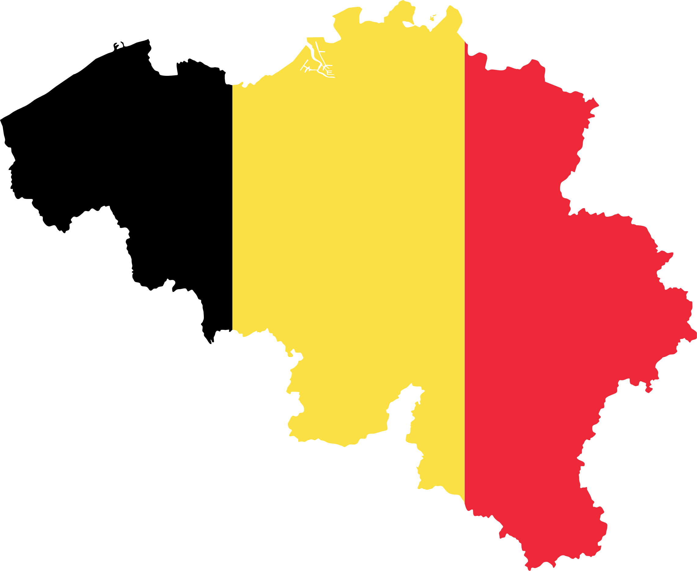 Belgium Map Flag by GDJ