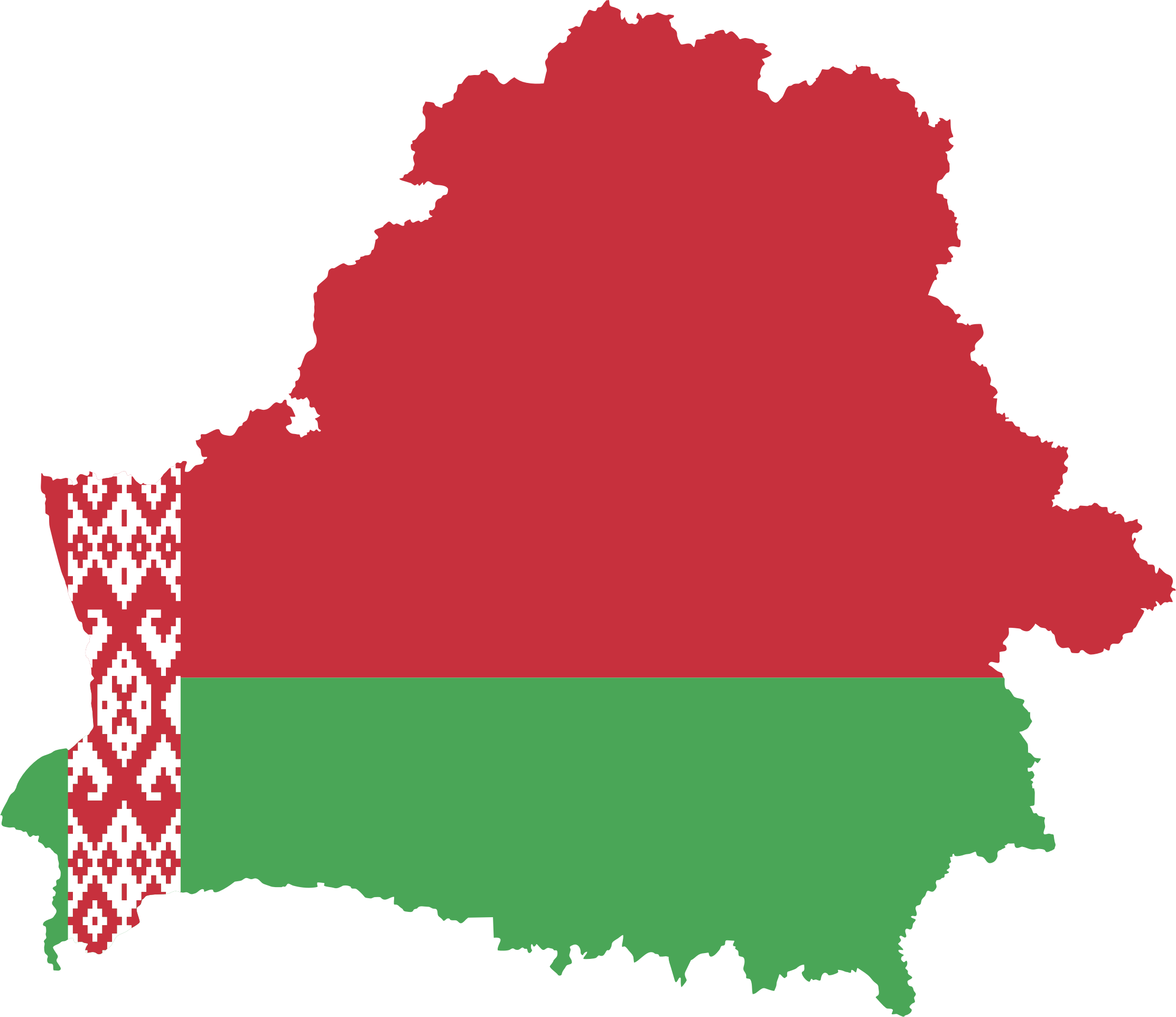 Belarus Map Flag by GDJ