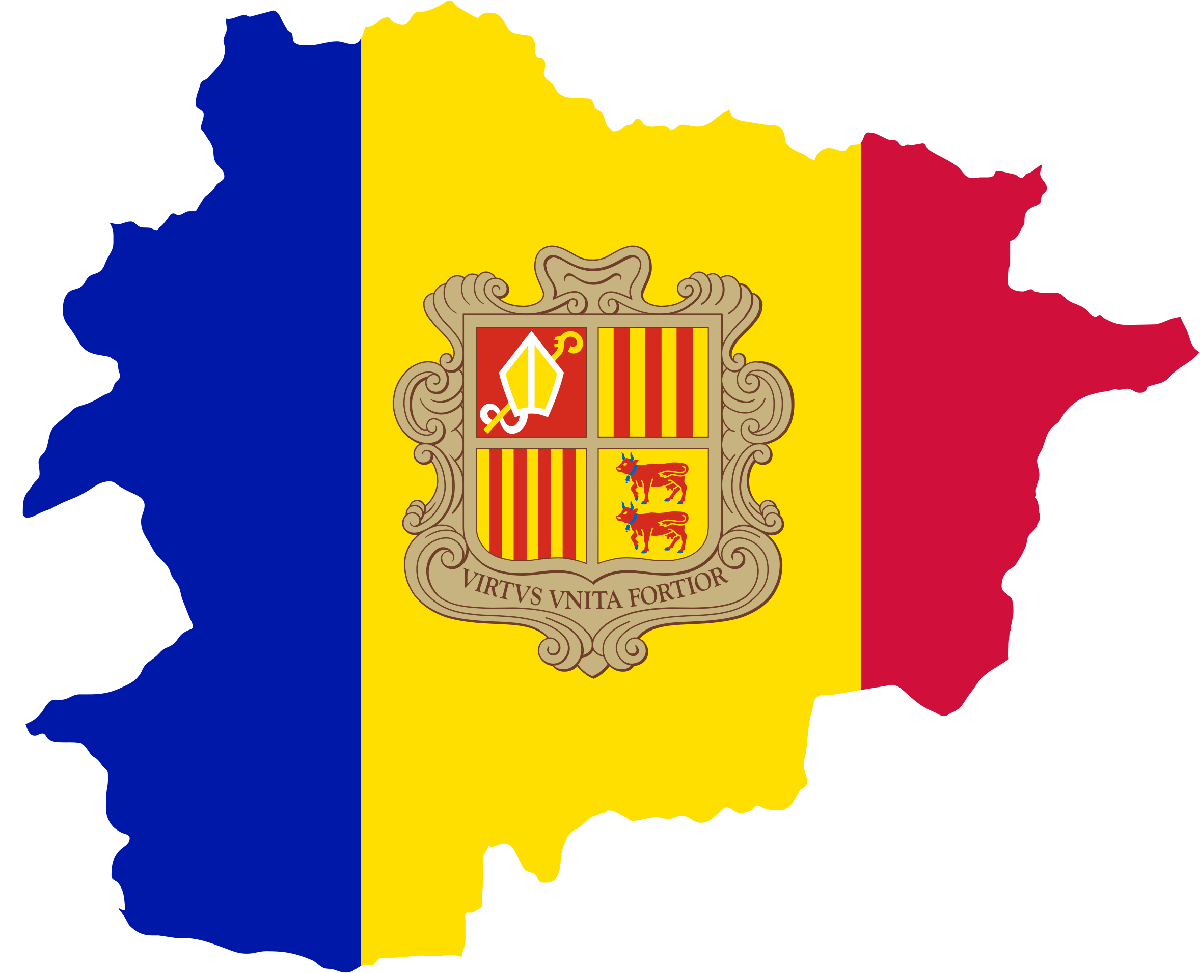 Andorra Map Flag by GDJ