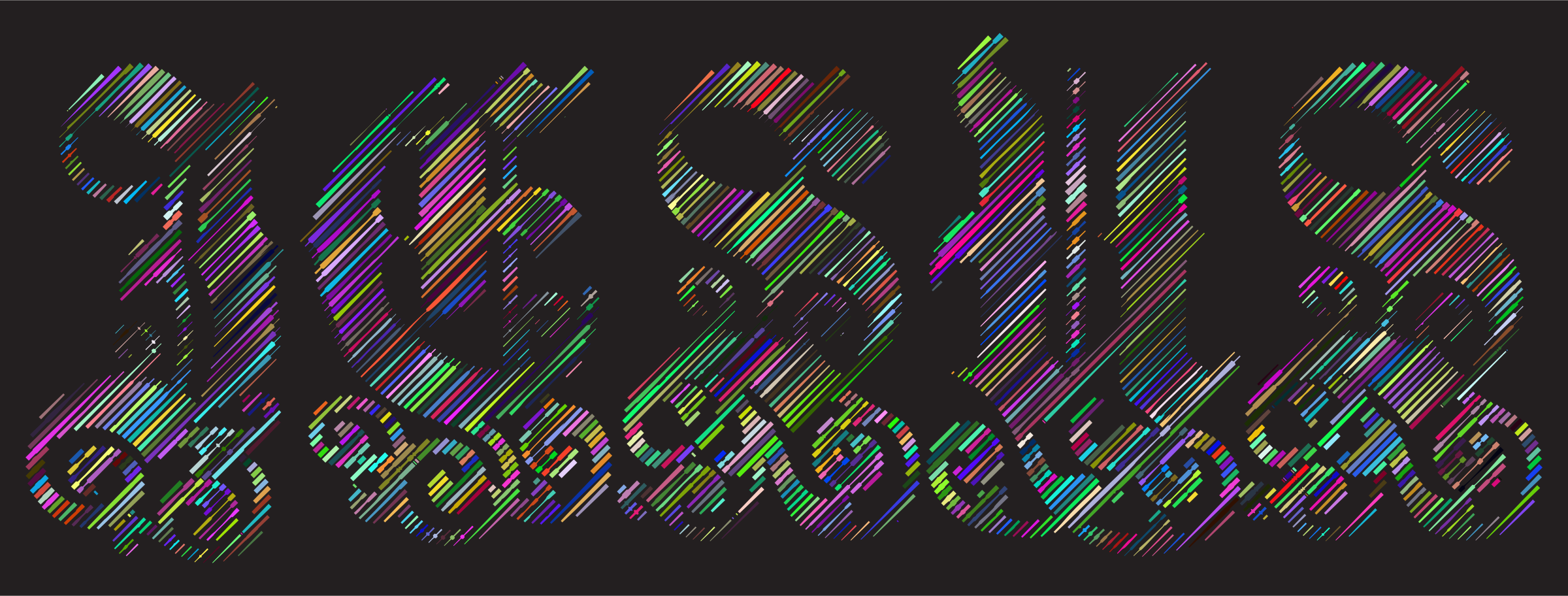 Prismatic Jesus Typography Lines by GDJ