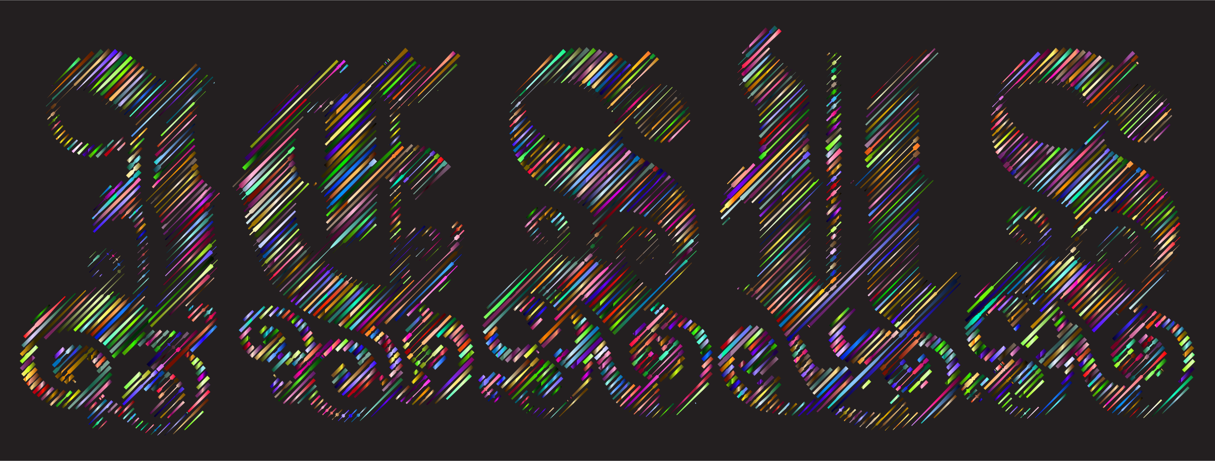 Prismatic Jesus Typography Lines 3 by GDJ