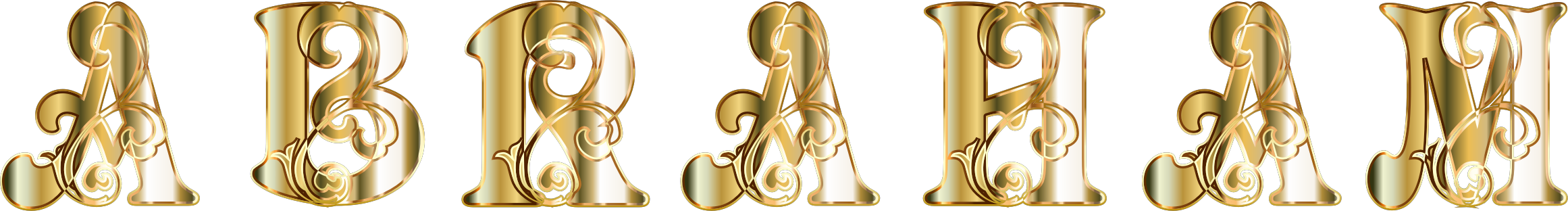 Gold Abraham Typography No Background by GDJ