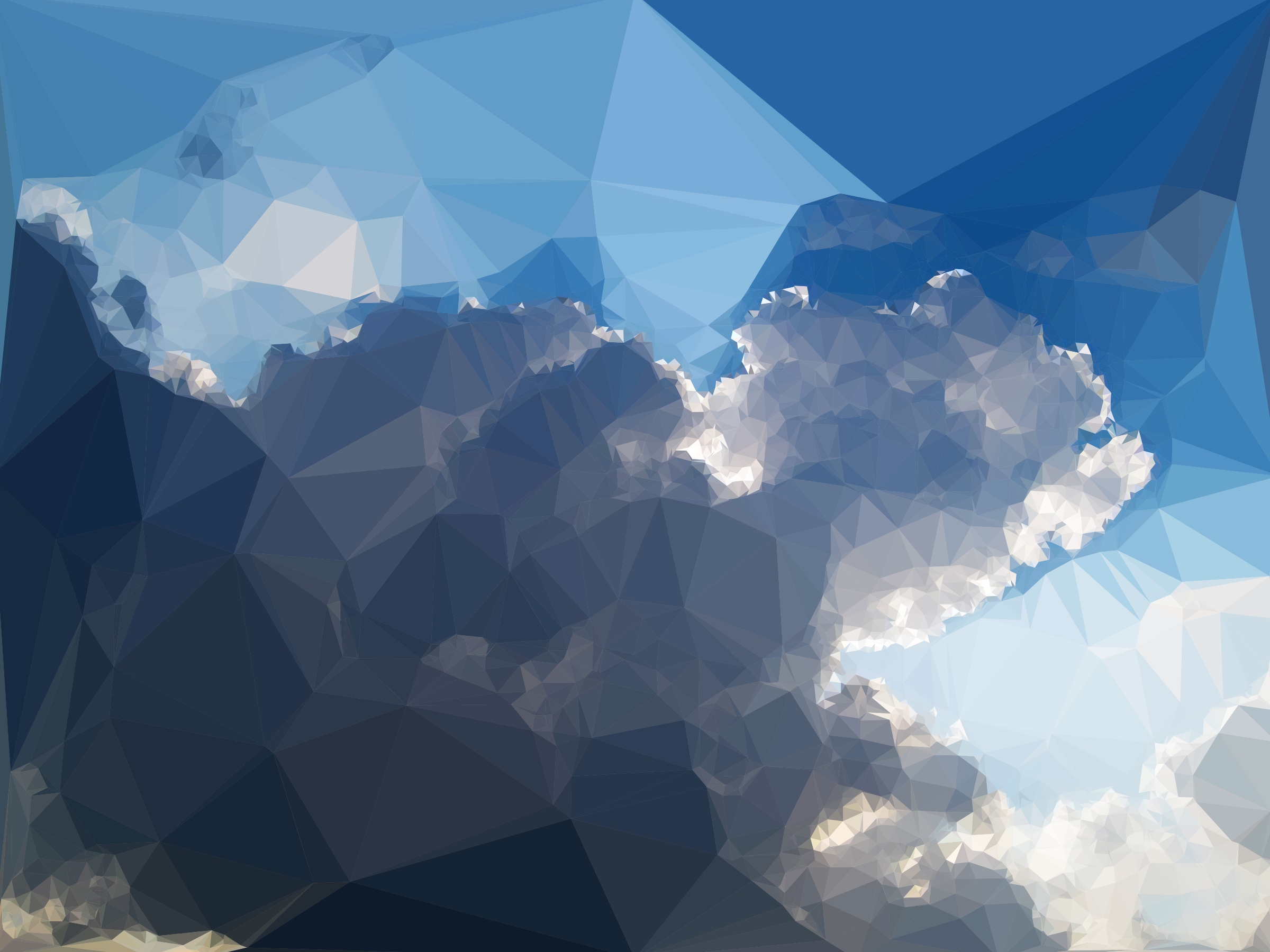 Low Poly Cloudscape 2 by GDJ