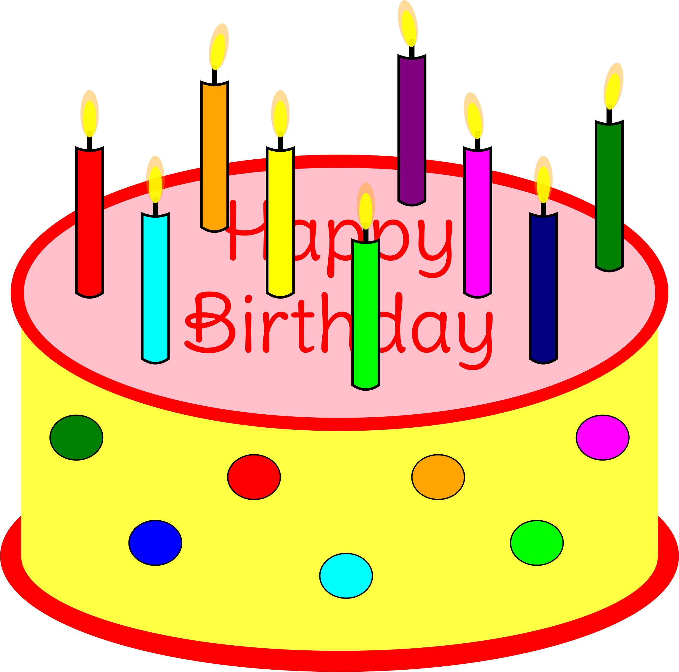 Candles Cake Clipart With