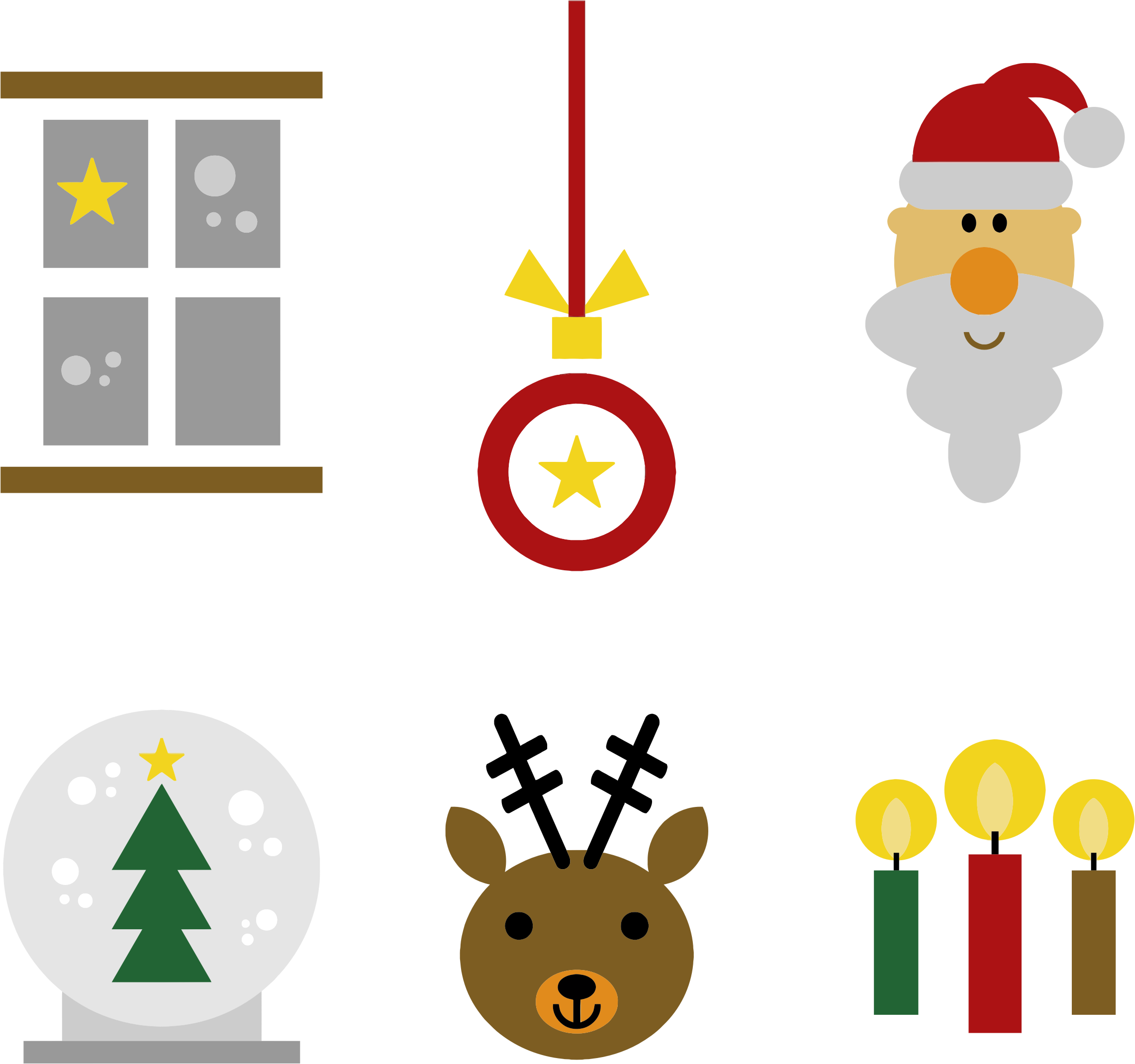 Festive Christmas Icons by GDJ