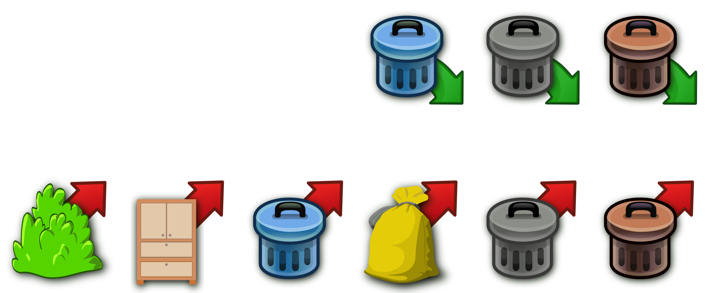 Trash icons by Moini