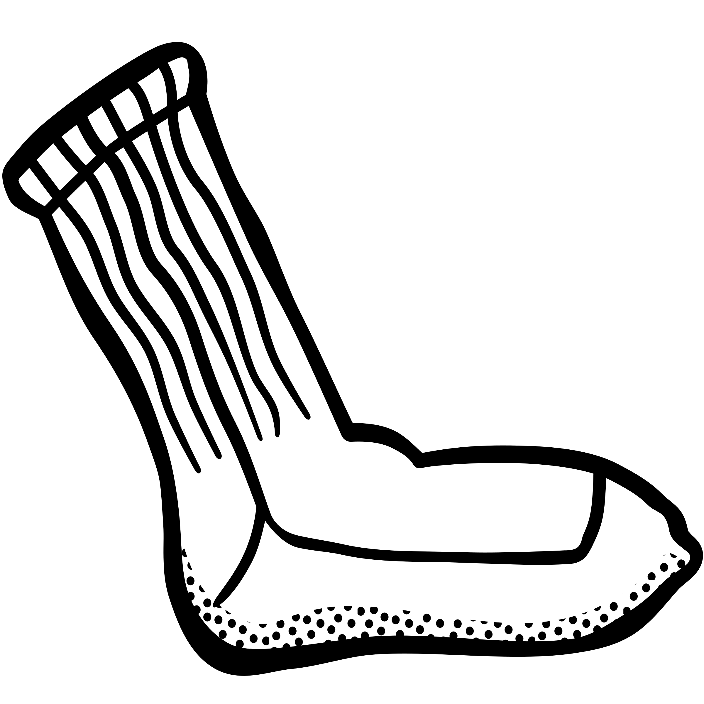 sock - lineart by frankes