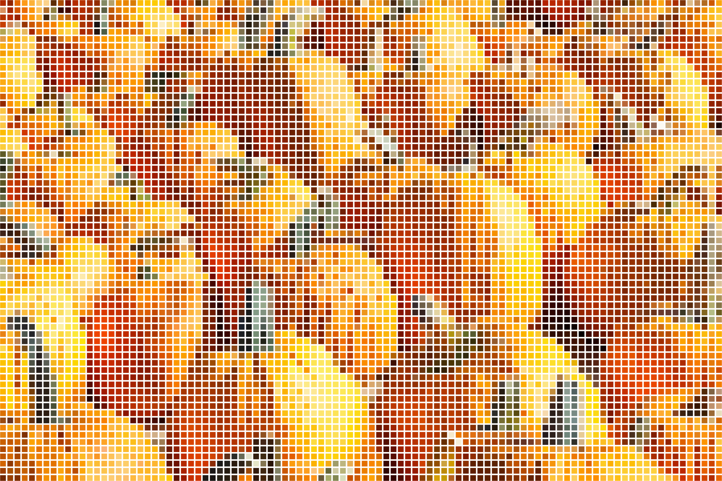 Pumpkin Patch Mosaic by GDJ