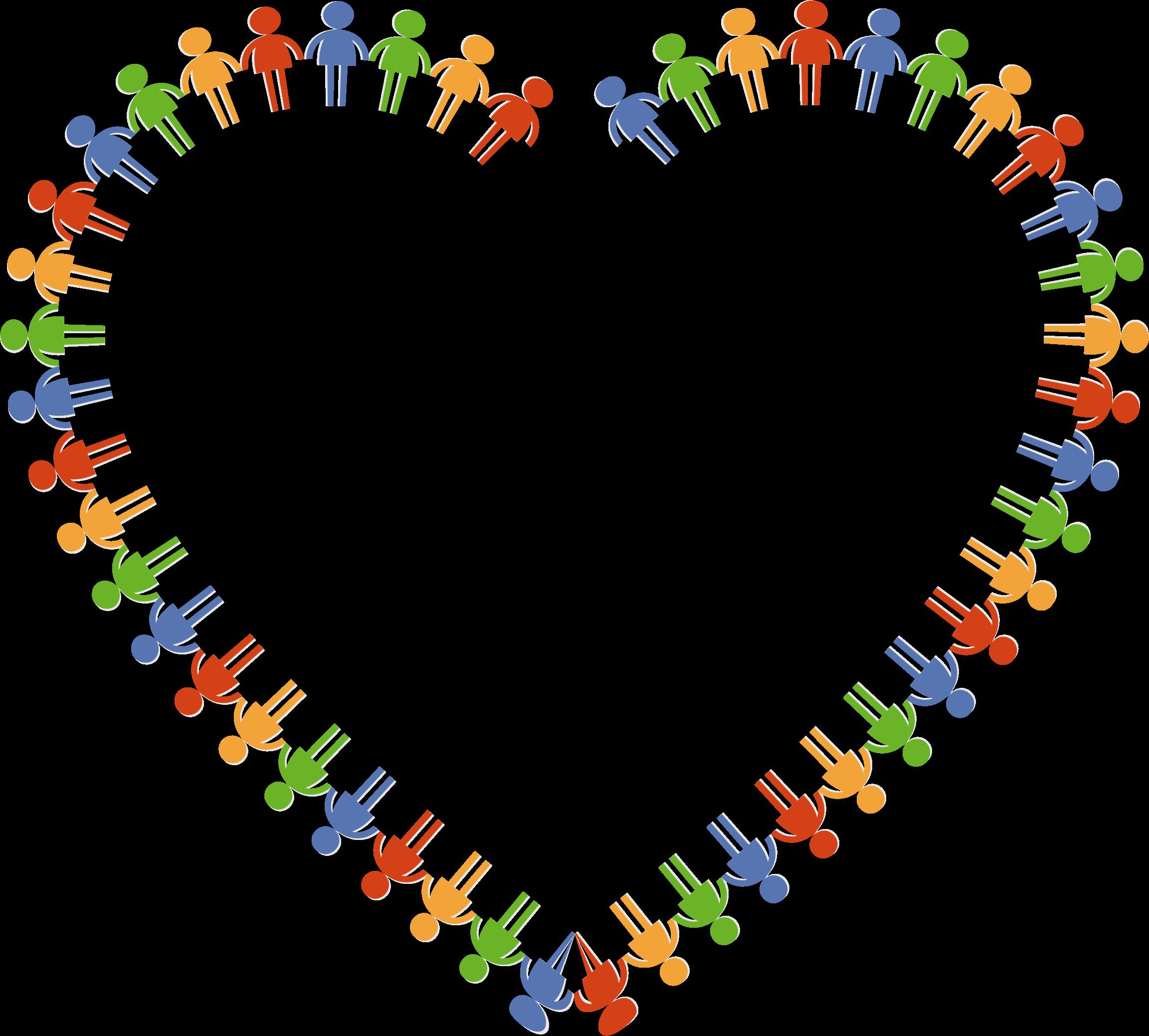 clipart community heart heart outline clip art image heart outline clip art border