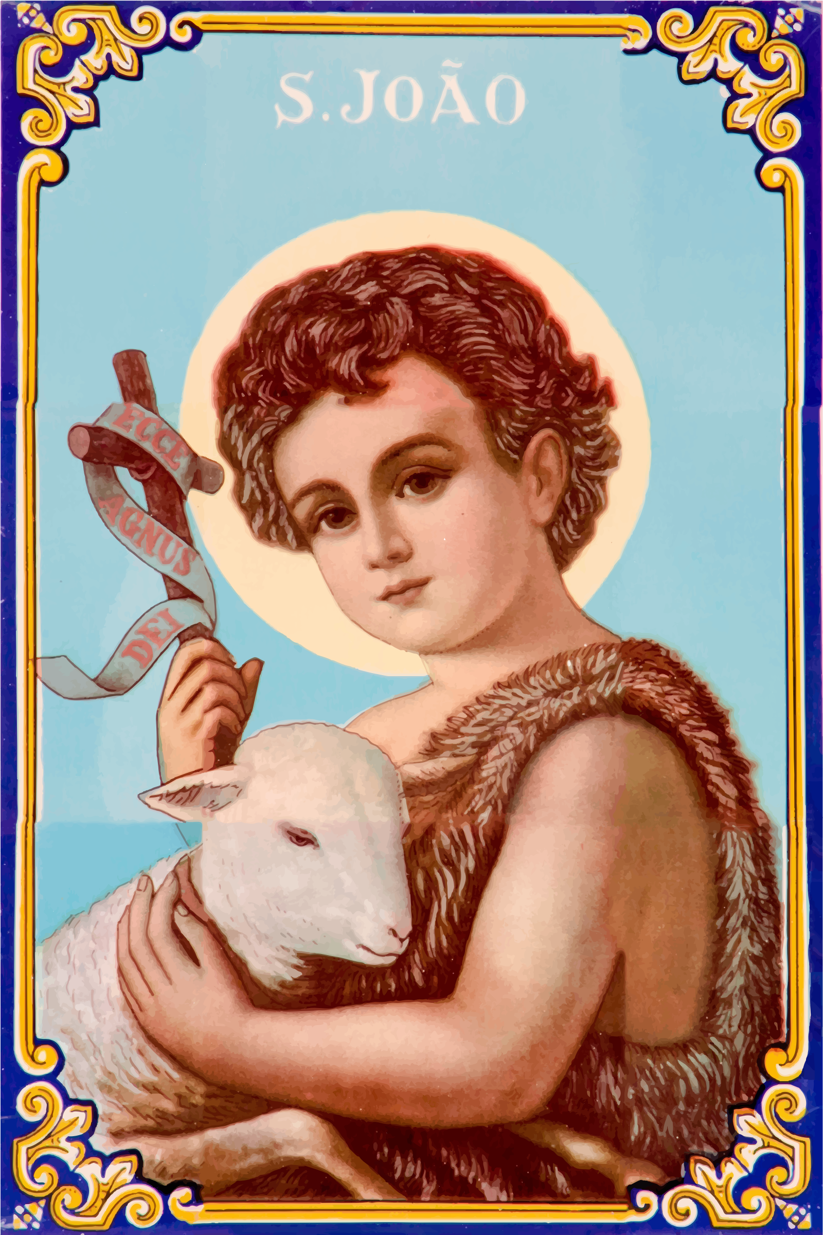 Christ Holding A Lamb by GDJ