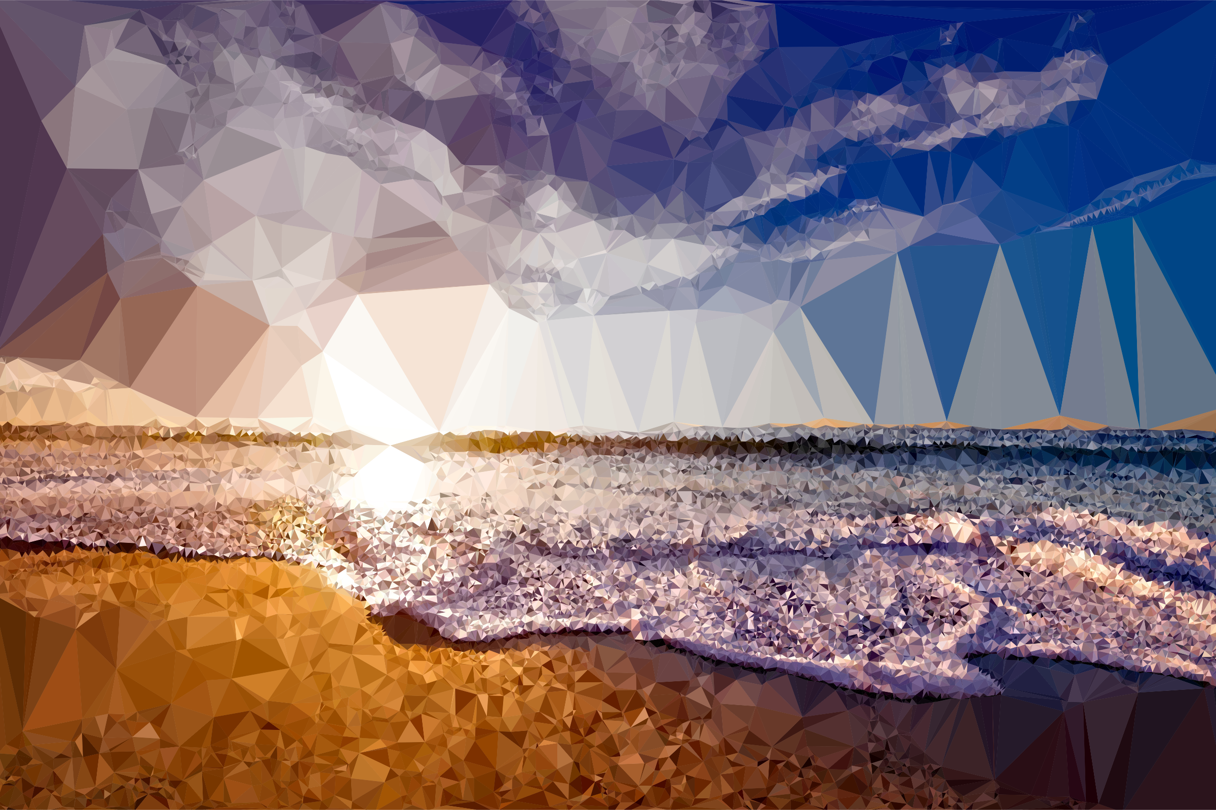 Low Poly Beach Shore by GDJ